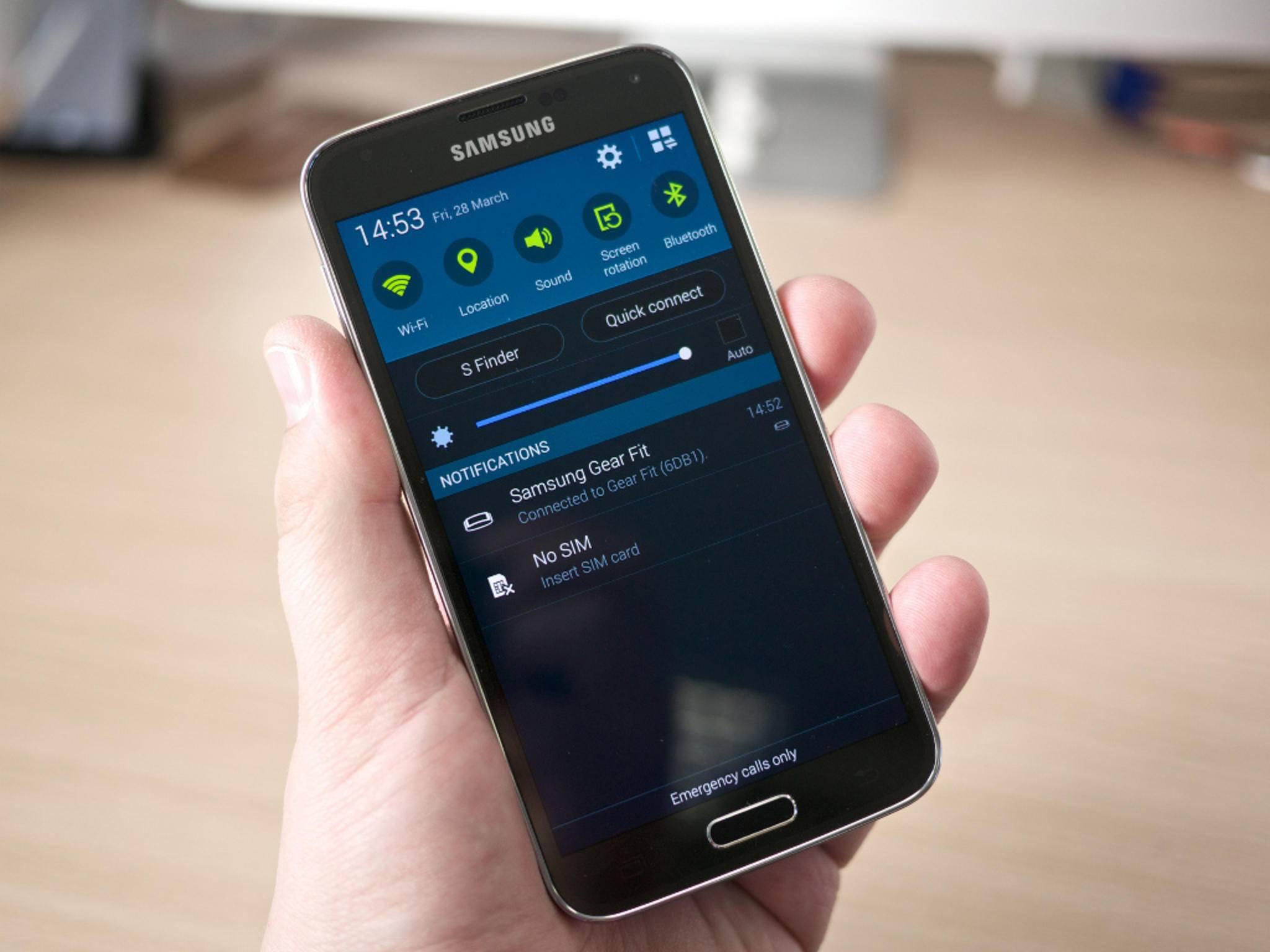 Das Samsung Galaxy S5 könnte schon bald ein Update auf Android 5.1.1 bekommen.