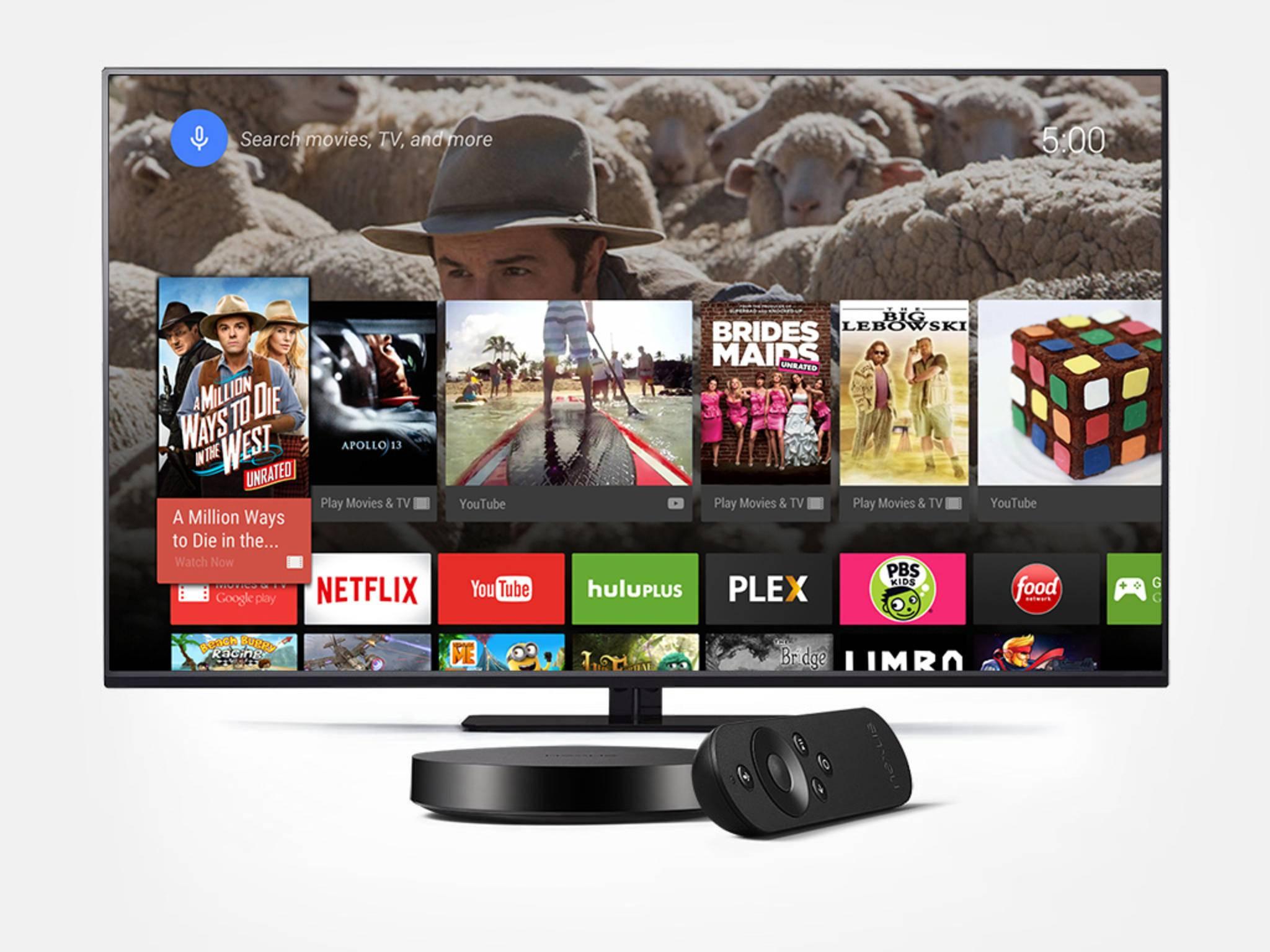 Über den Nexus Player kommt Android auf den Fernseher.