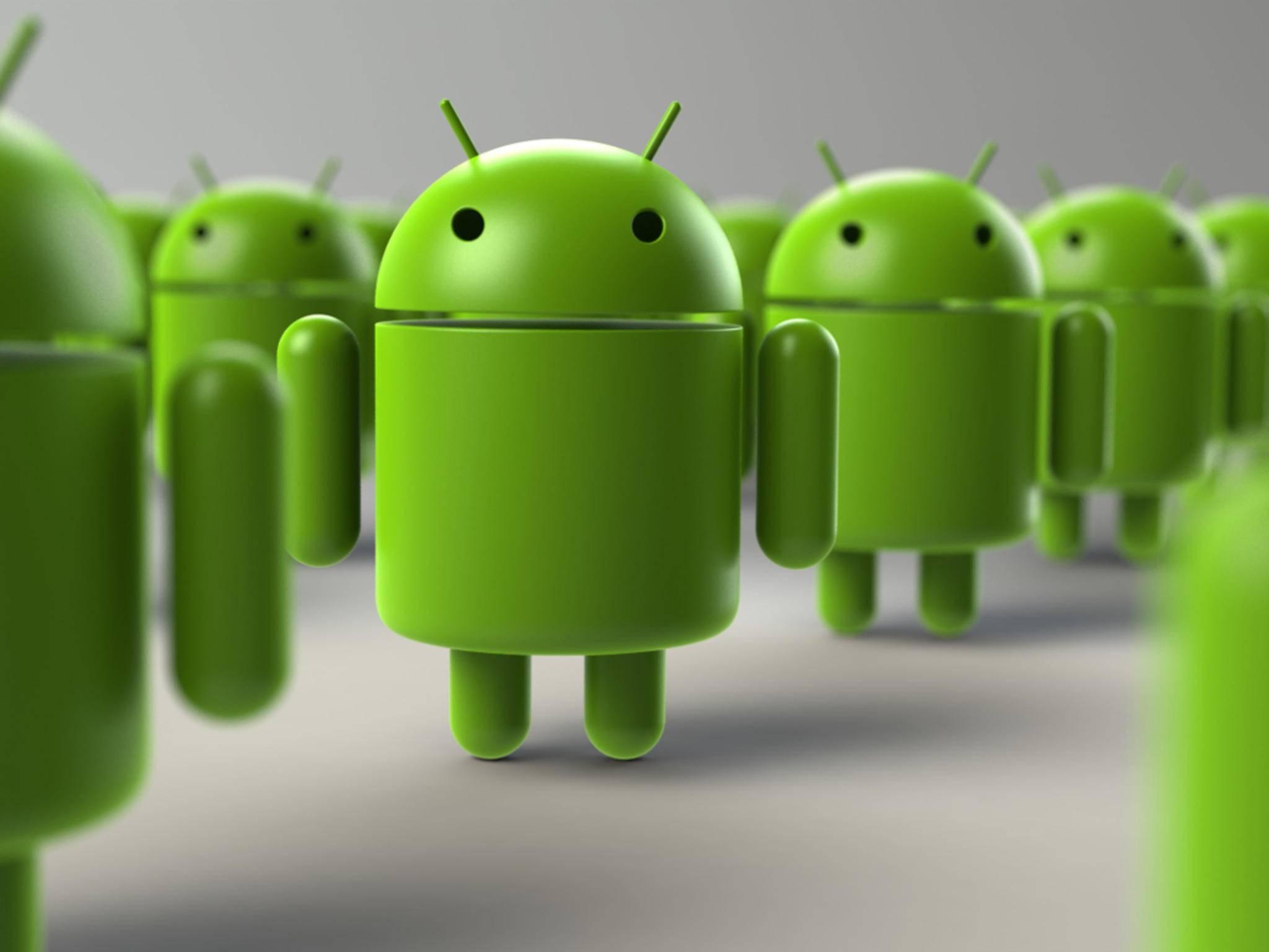 """Der Roboter """"Andy"""" ist das Maskottchen des Betriebssystems Android."""