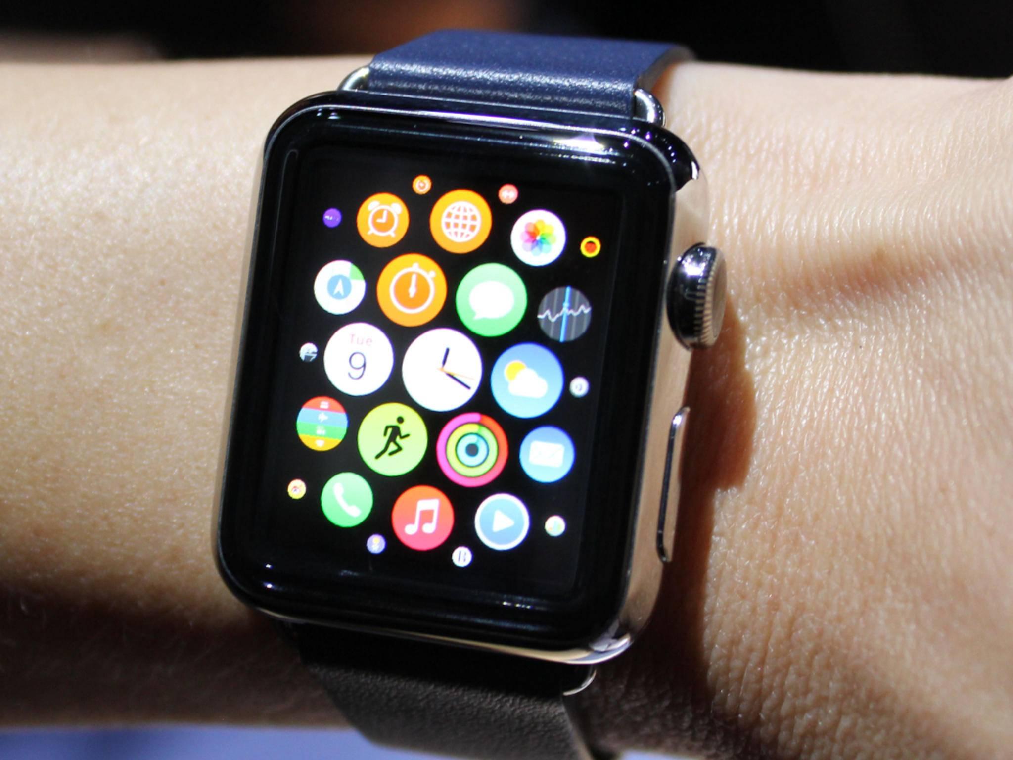 Die Apple Watch wird mit zwei Display-Auflösungen auf den Markt kommen.