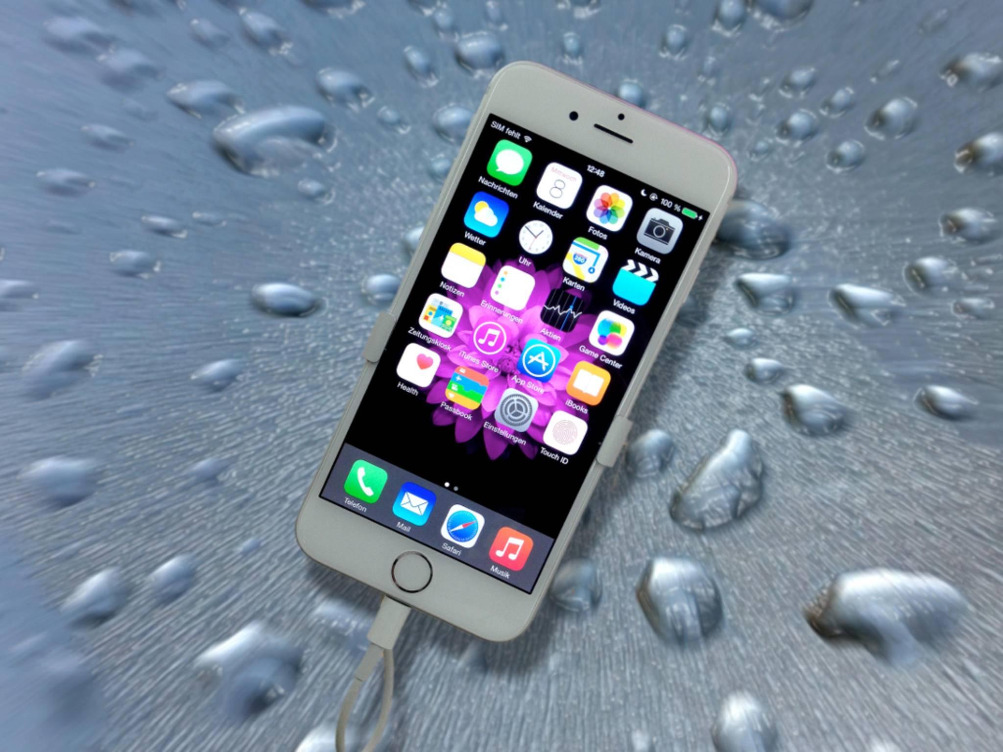 Das Apple iPhone 6 mit dem Betriebssystem iOS 8