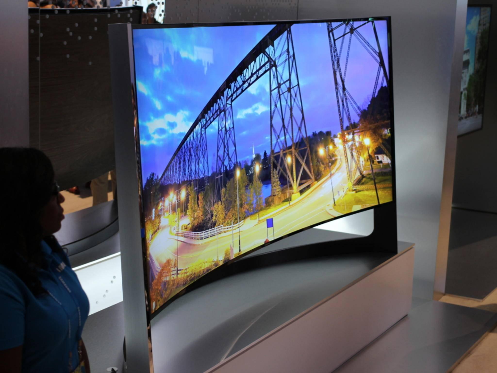 Curved-Fernseher von Samsung