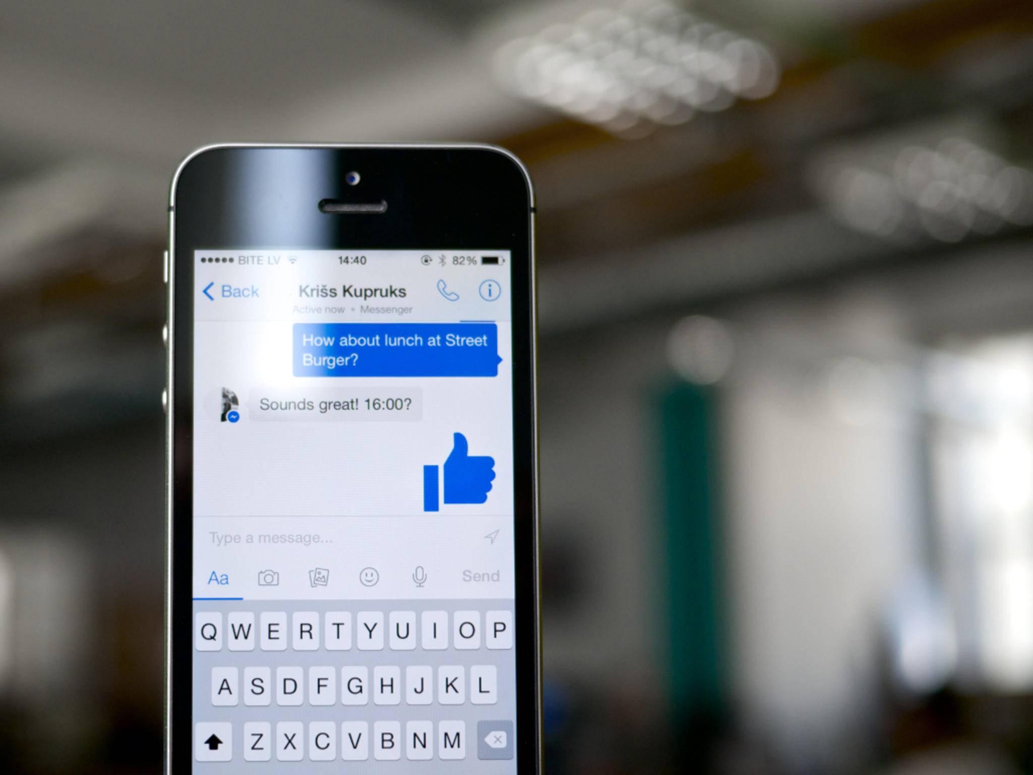 Nachrichten im Facebook-Messenger können sich in Zukunft selbst zerstören.