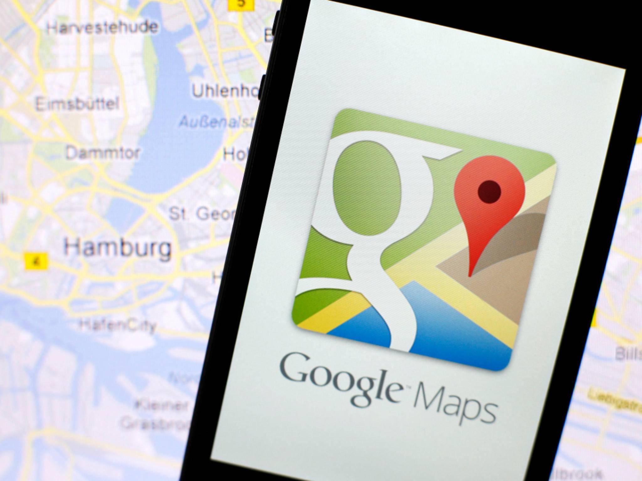Google Maps wird durch ein Update deutlich farbenfroher.
