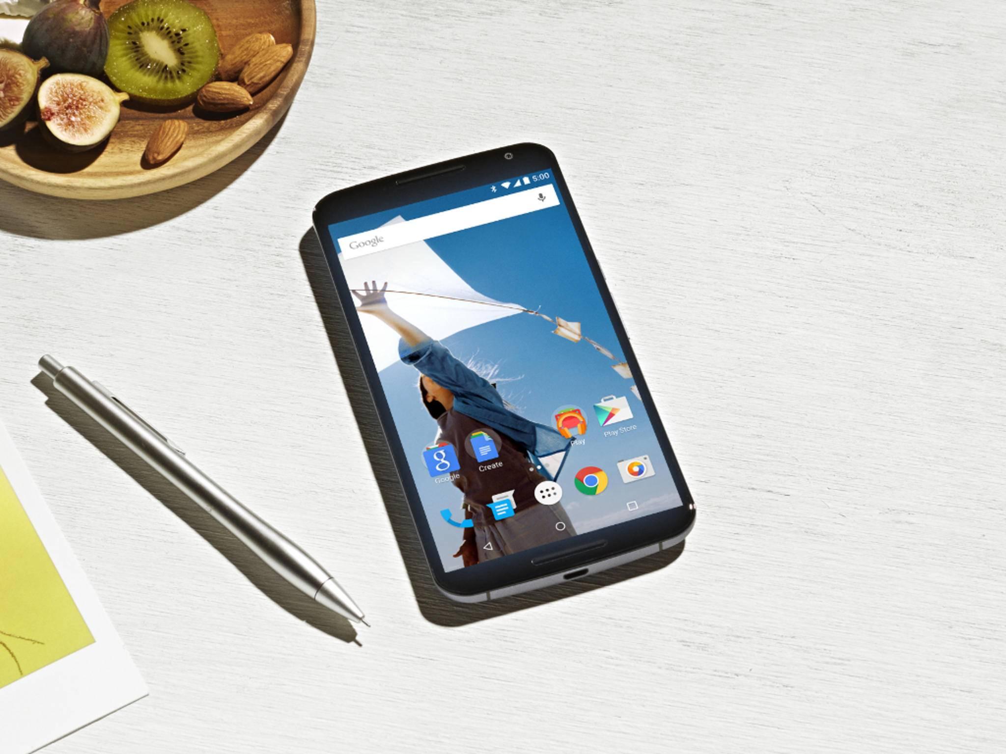 Das Nexus 6 könnte noch bis Herbst 2016 Android-Updates bekommen.