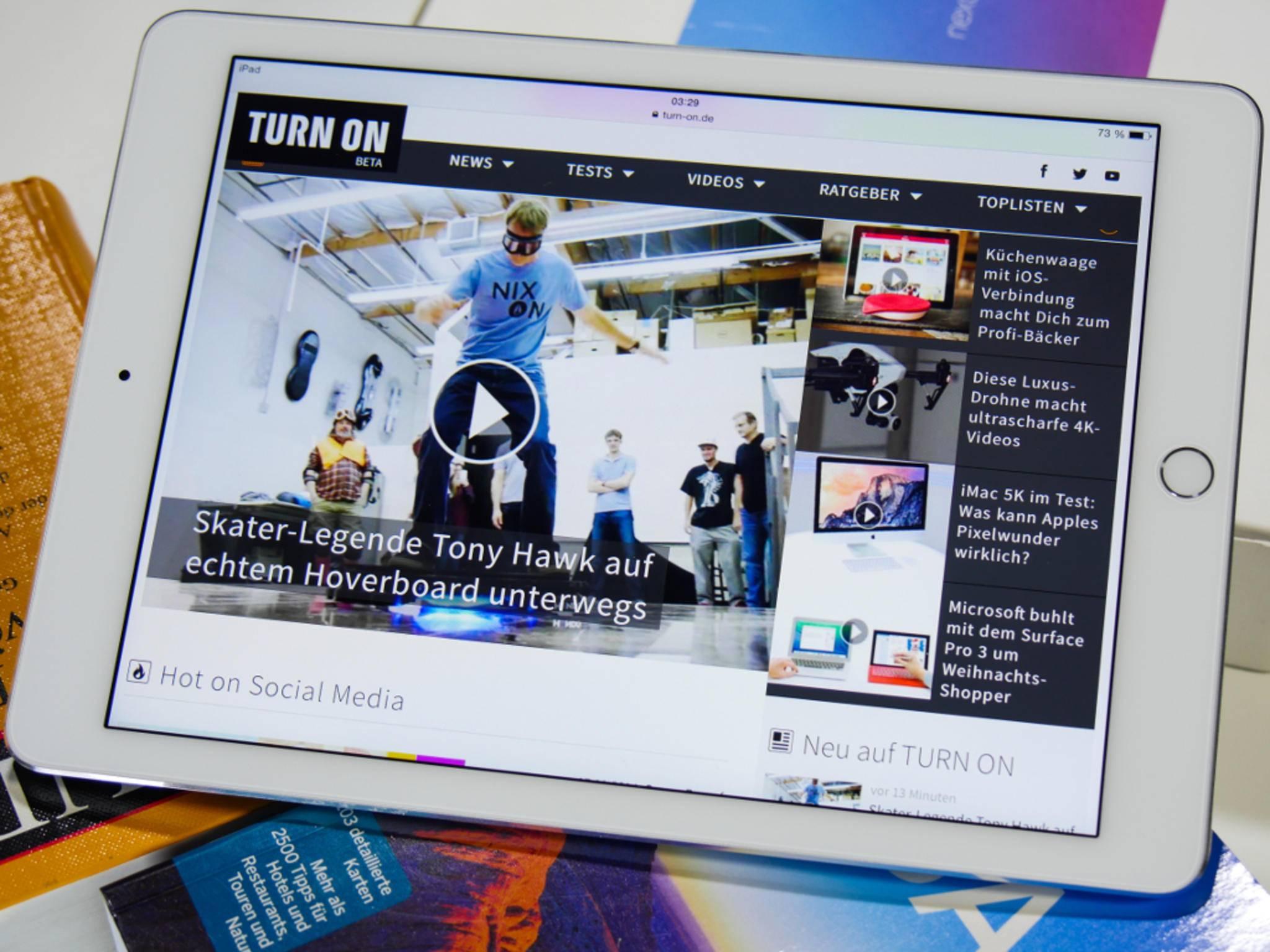 In der Draufsicht fallen zunächst kaum Unterschiede zum ersten iPad Air auf.