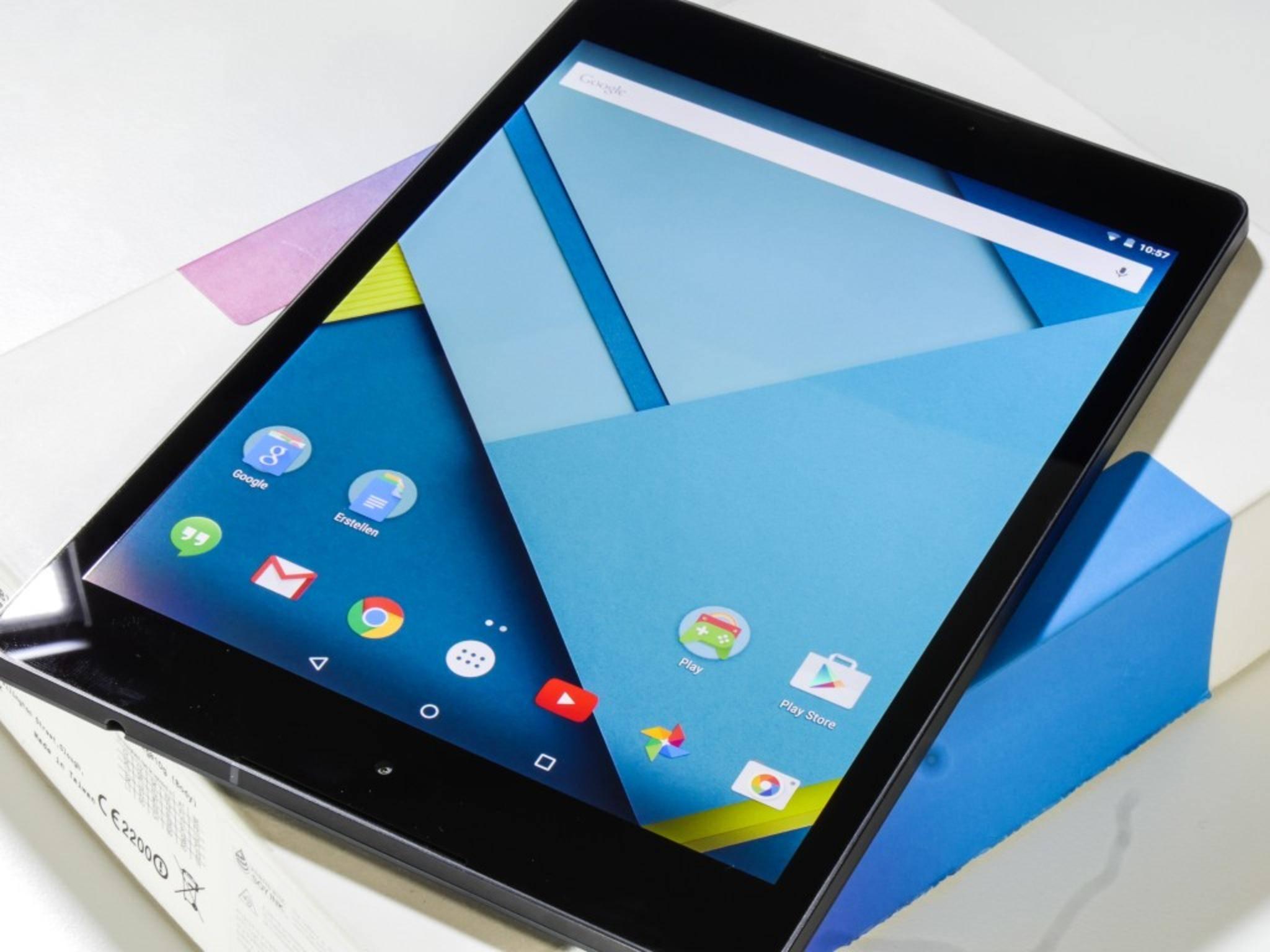 Das Nexus 9 ist das erste Tablet mit Android 5.0 Lollipop.