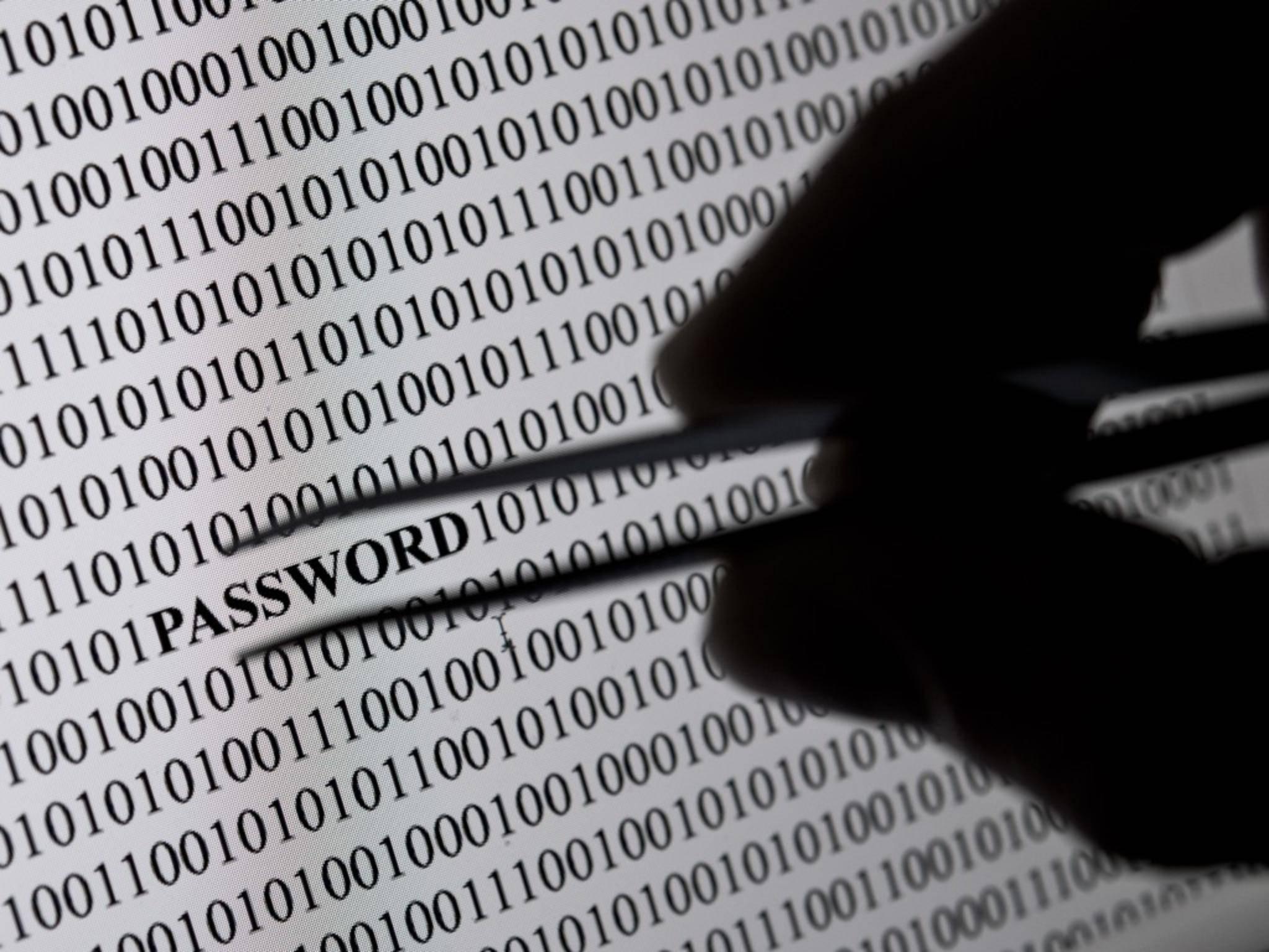 Nicht sicher Passwörter werden von Hackern in Windeseile geknackt.