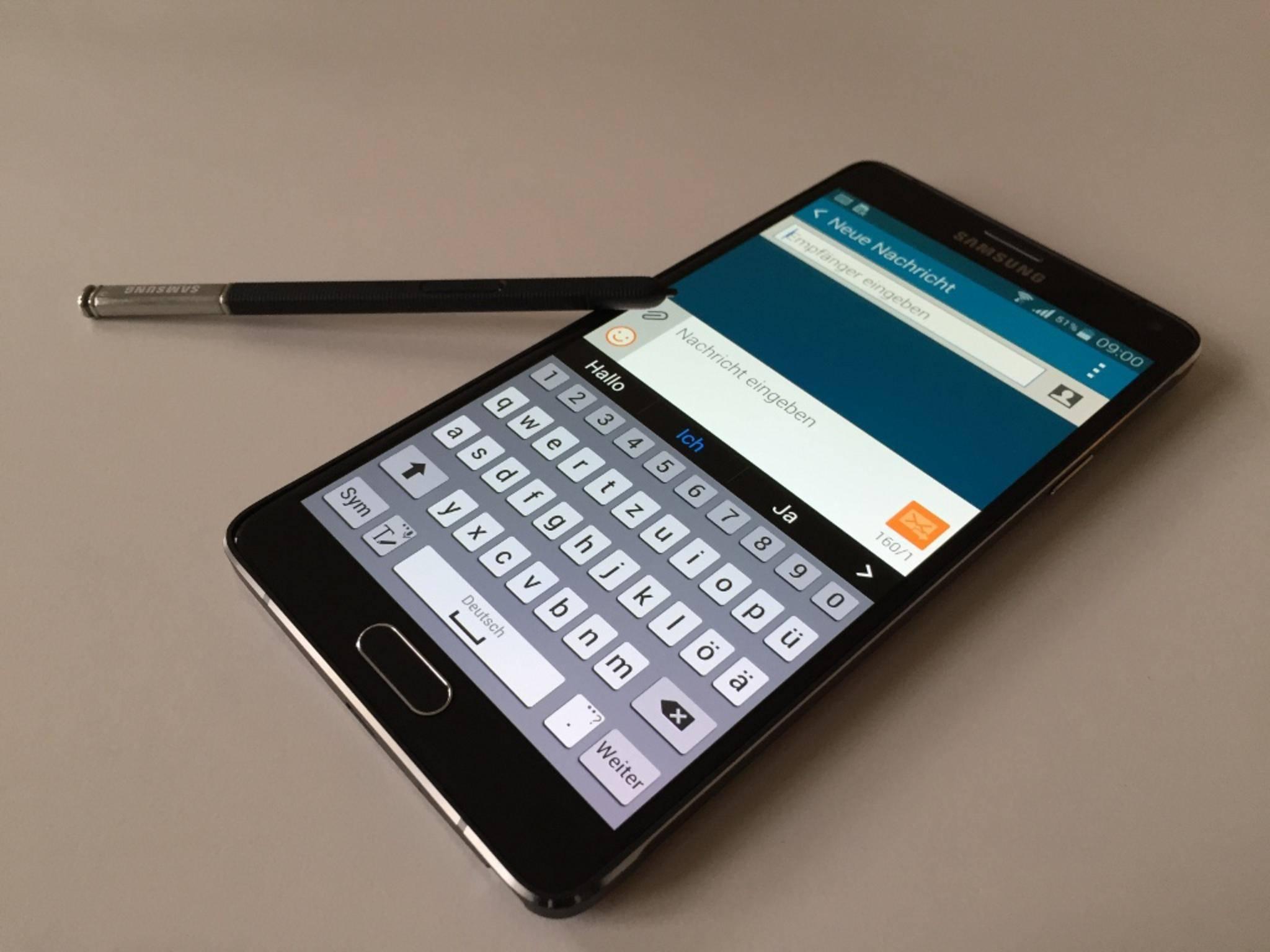 Galaxy Note 4 mit S-Pen: Zumindest die nächste Edge-Variante des Note 5 soll ohne Stift auskommen