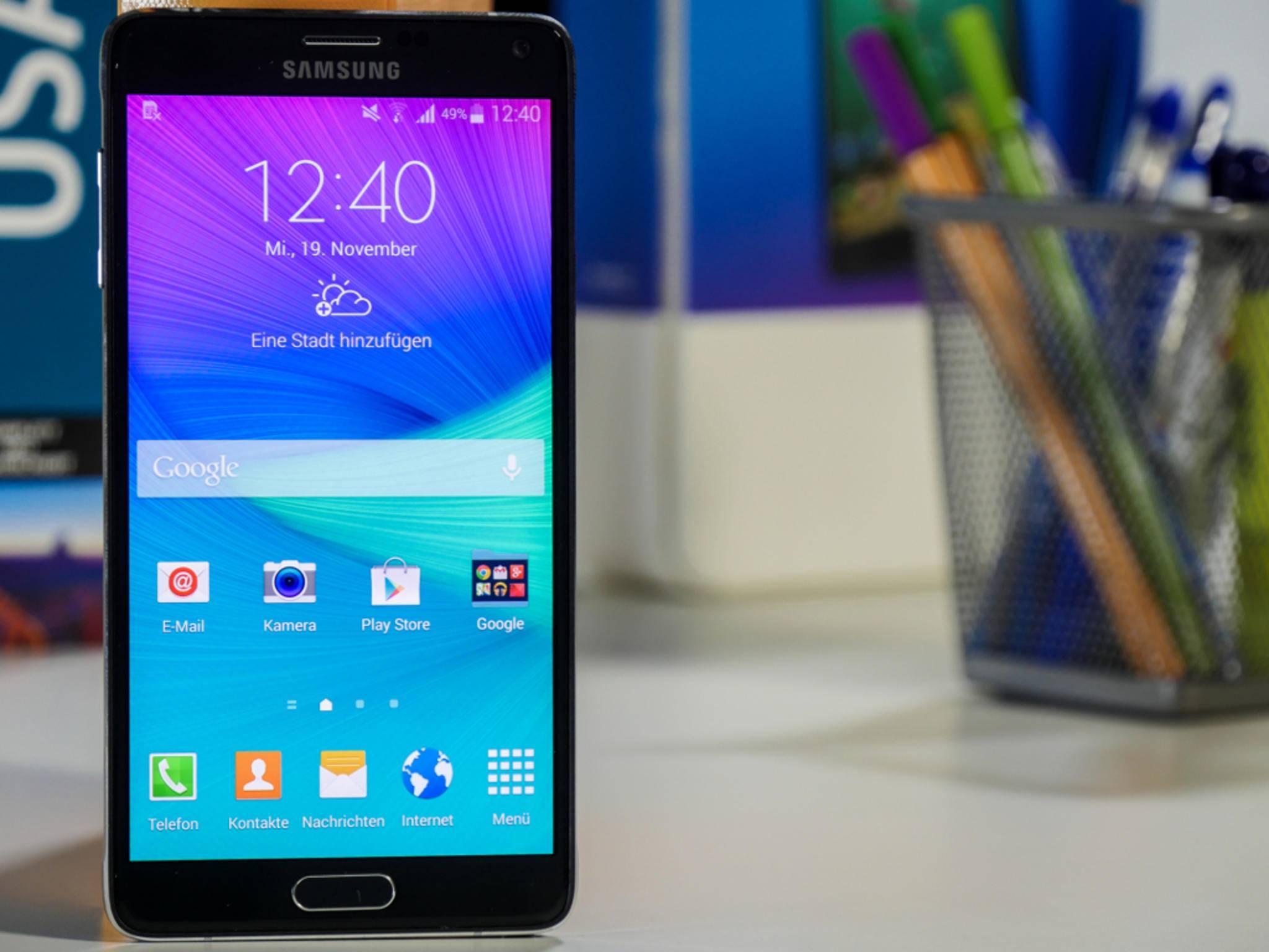 Ein Update soll die Akkulaufzeit des Galaxy Note 4 verbessern.