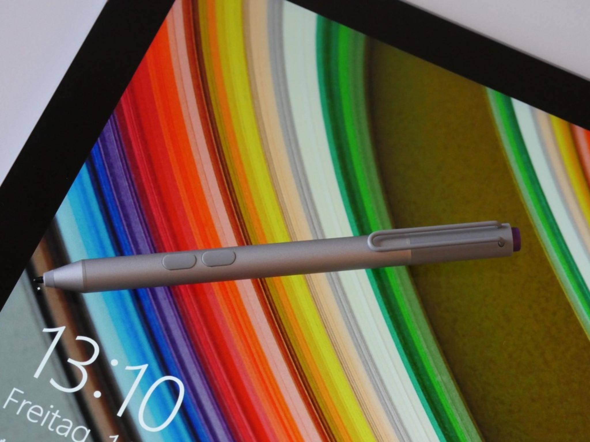 Wer das Display schonen will, nutzt den Surface-Stift für die Eingabe.