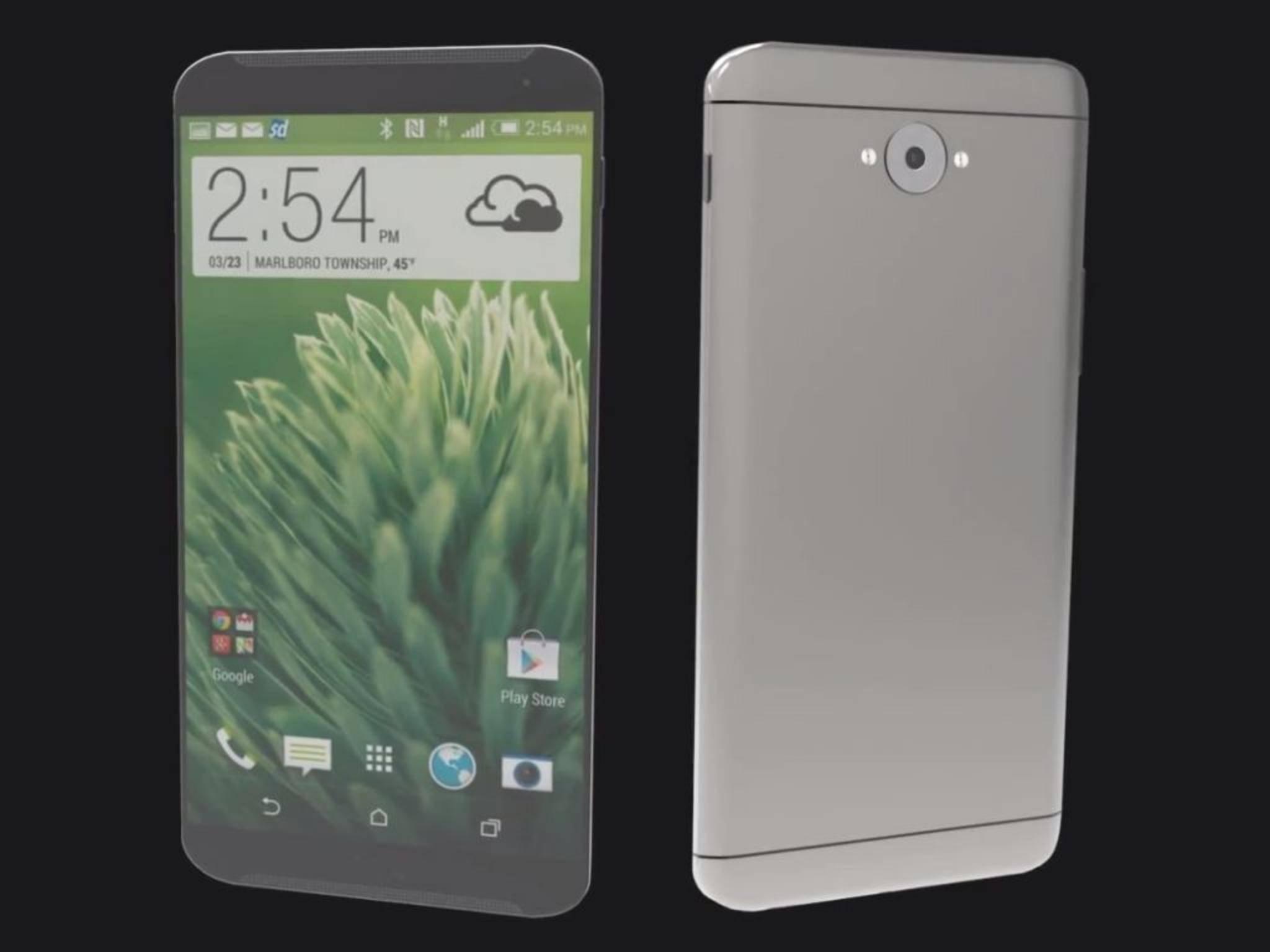 So könnte das HTC M9 aussehen.