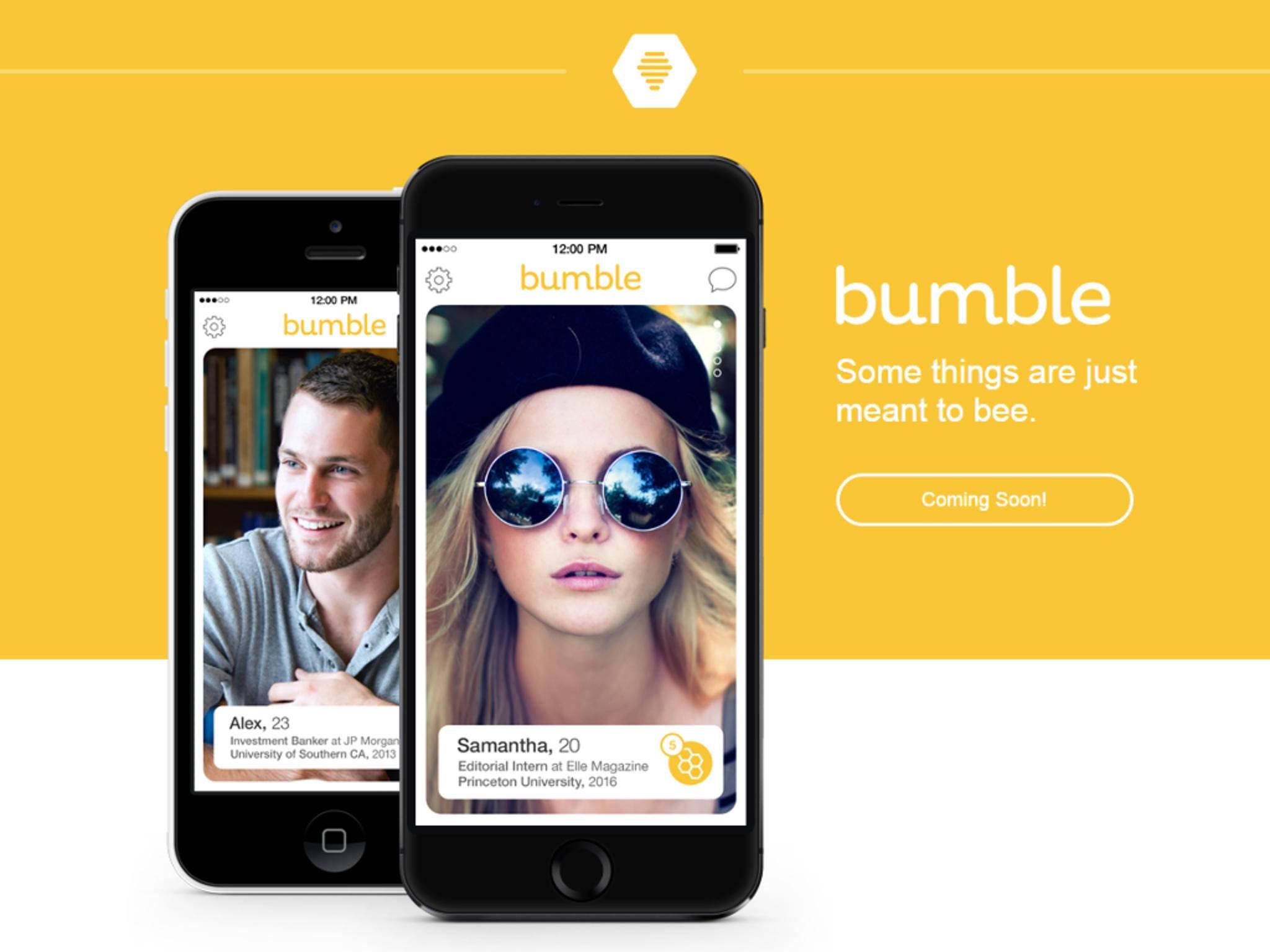 Bei der Dating-App Bumble dürfen nur Frauen den ersten Schritt machen.