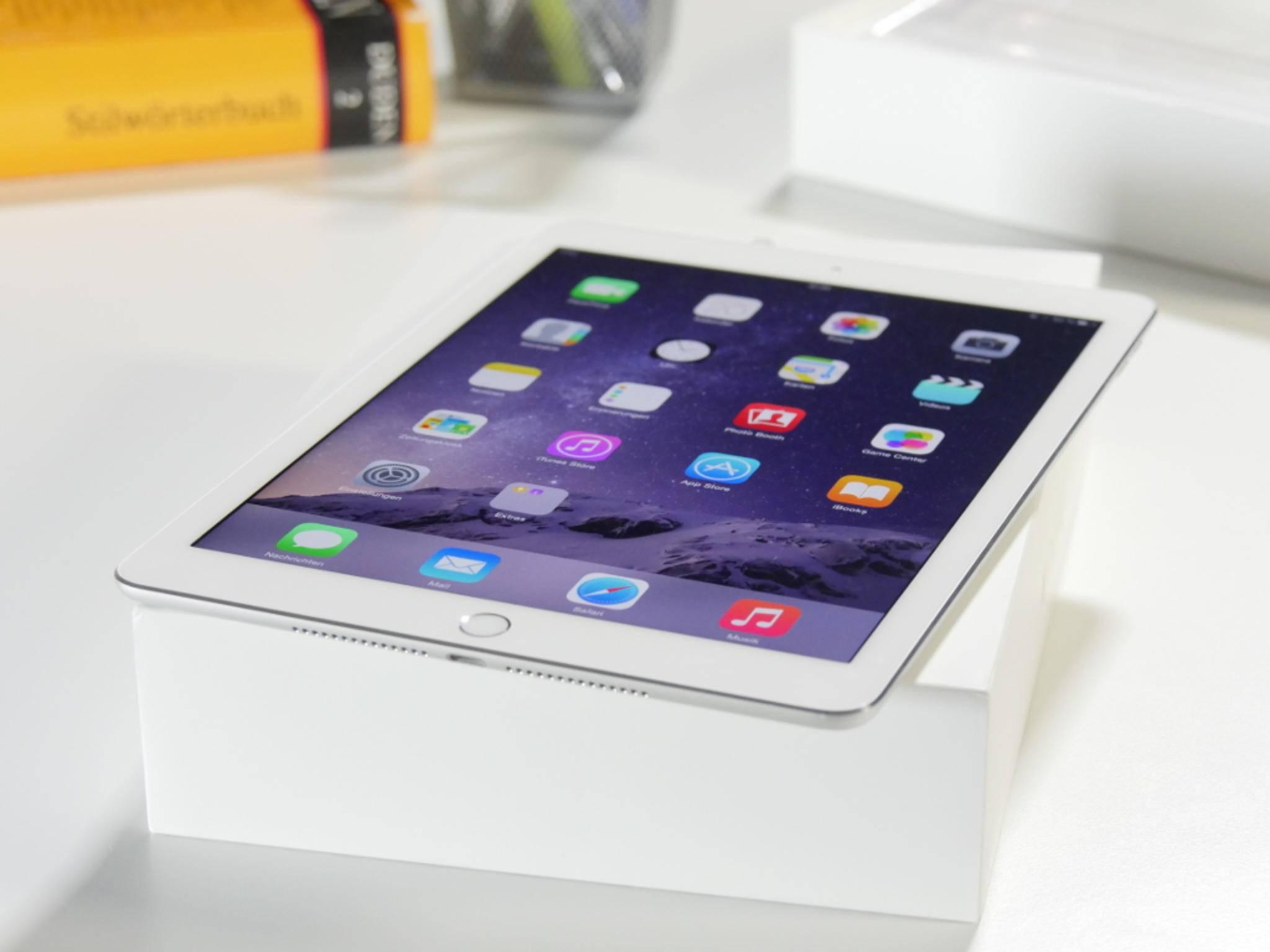 Dadurch spiegelt das iPad Air 2 weniger als sein Vorgänger.