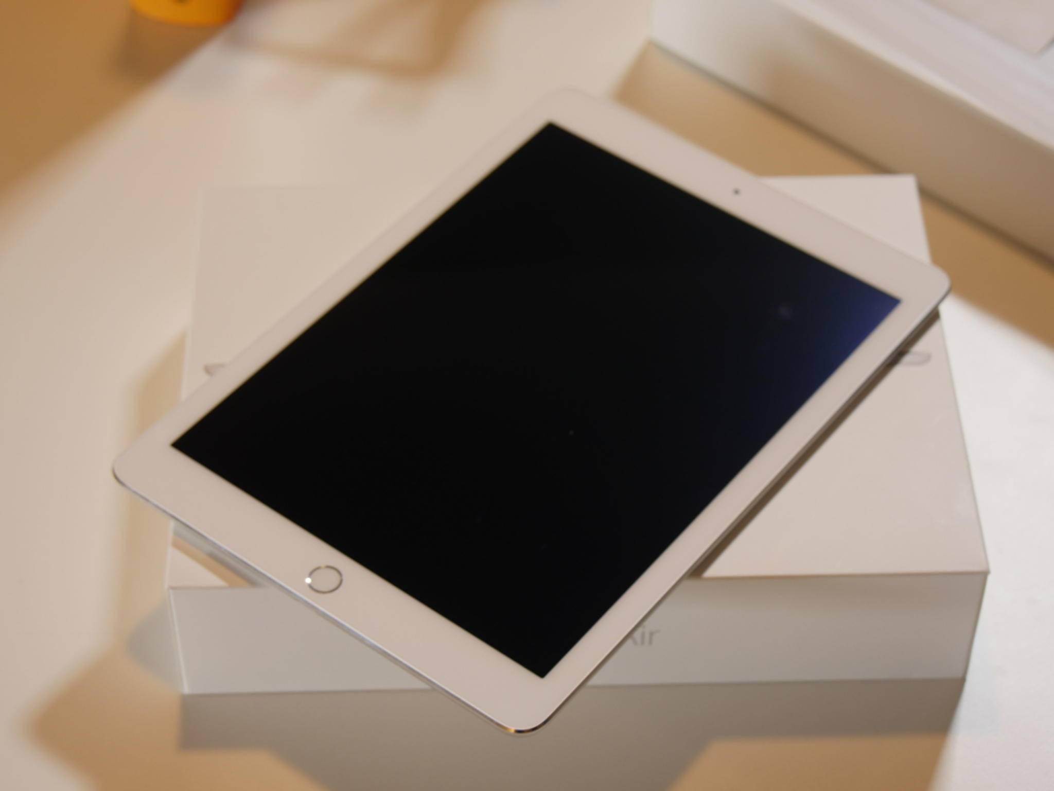 Das Display des iPad Air 2 ist noch immer 9,7 Zoll groß.