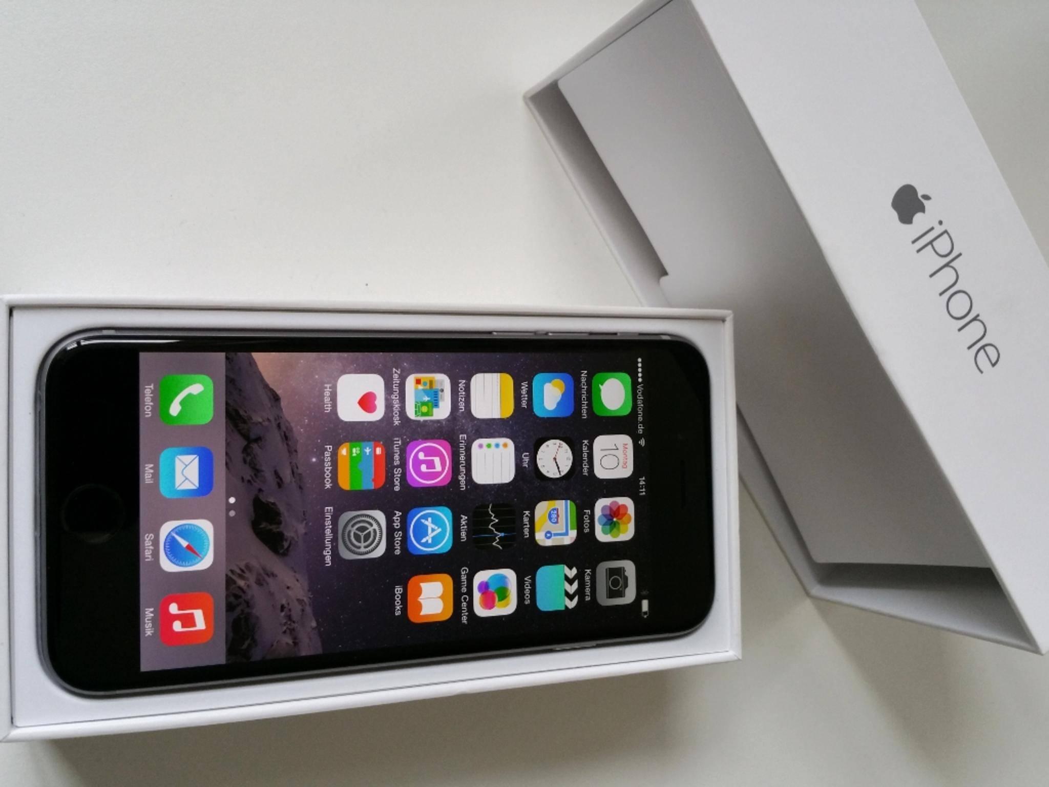Das Display des iPhone 6 ist im Vergleich zum Vorgänger deutlich gewachsen.