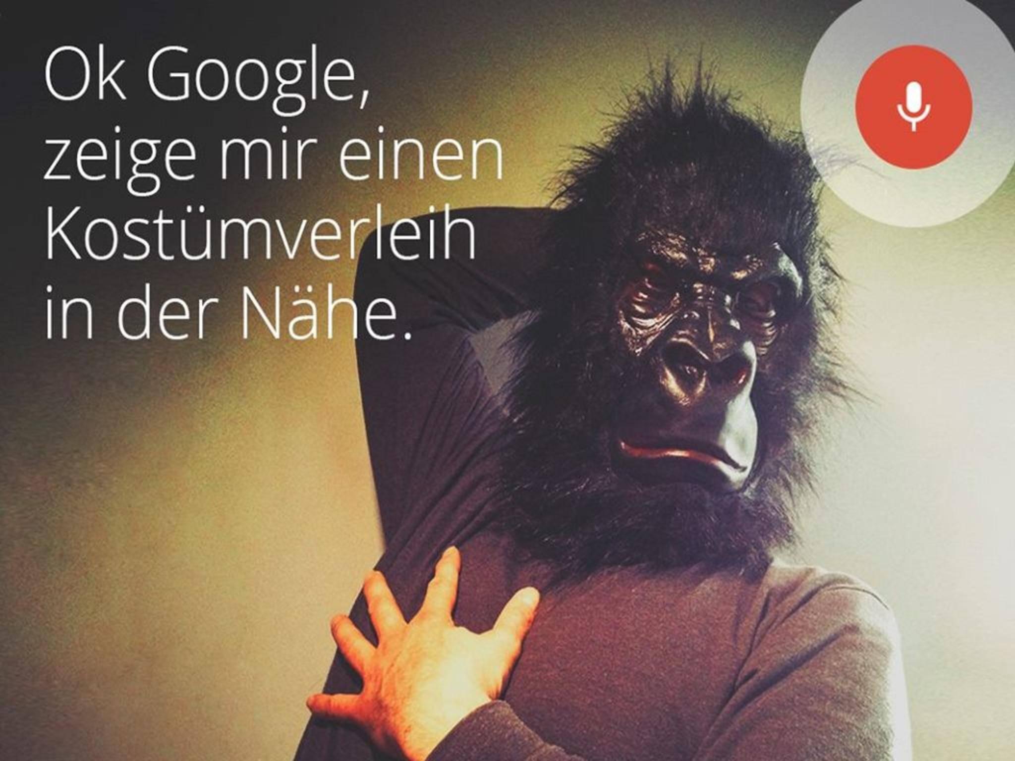 """Affig: Die Sprachbefehl-Suche """"Okay Google"""" landet auf der 8."""