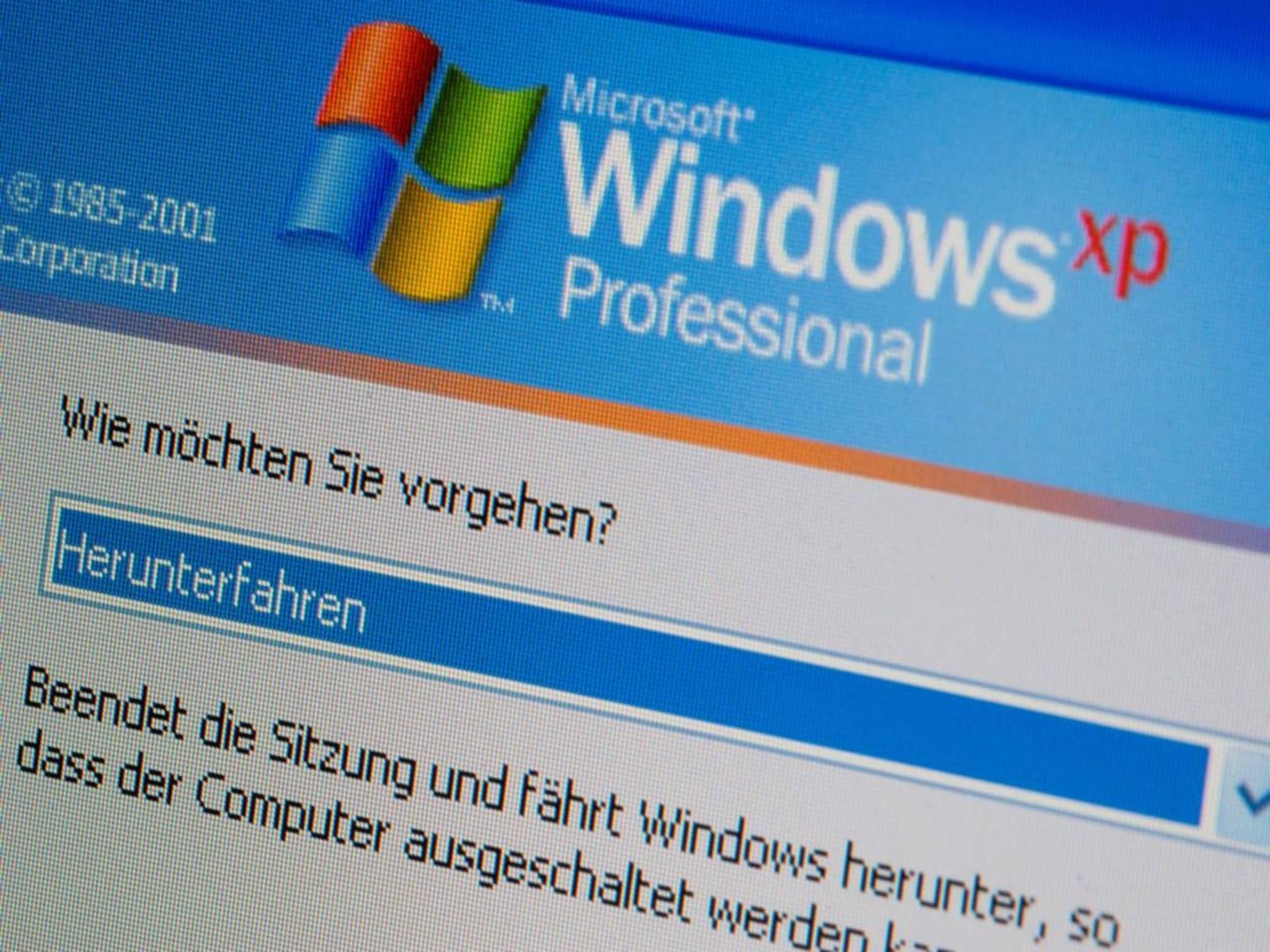Runterfahren wäre besser: Auf vielen Regierungsrechnern läuft noch Windows XP.