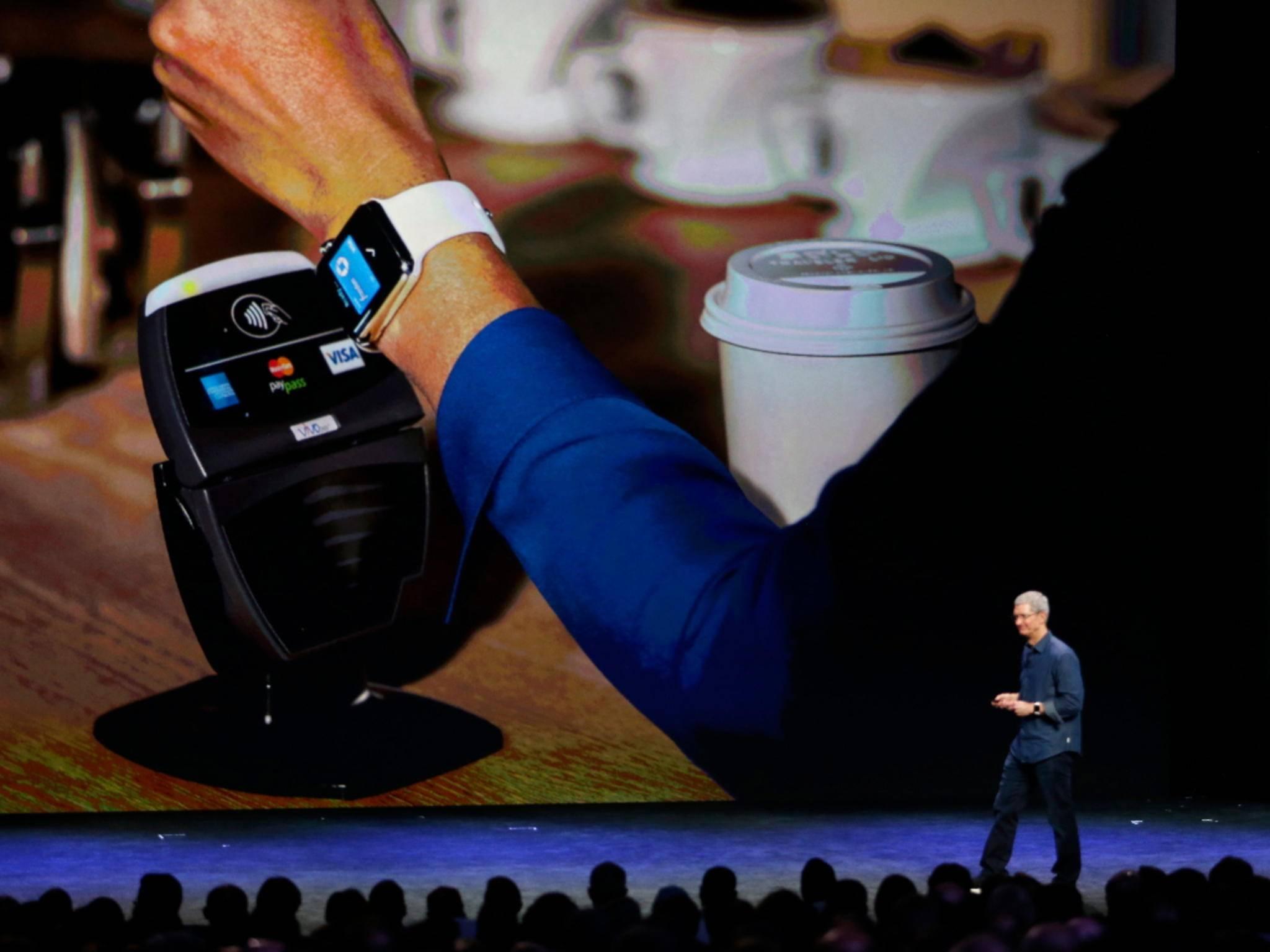 Tim Cook bei der Vorstellung von Apple Pay.