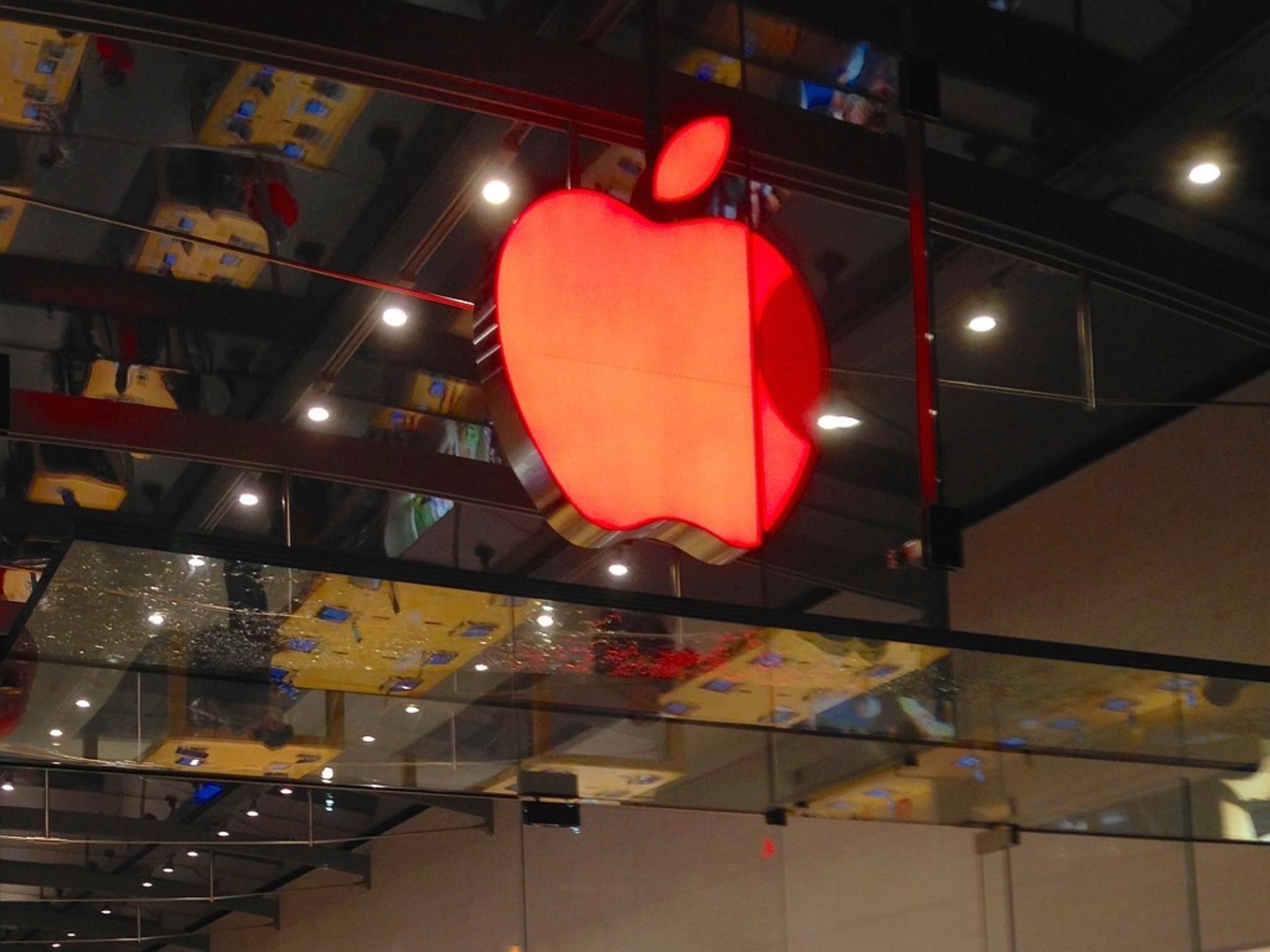 Apple färbte seine Store-Logos anlässlich des Welt-AIDS-Tags rot.