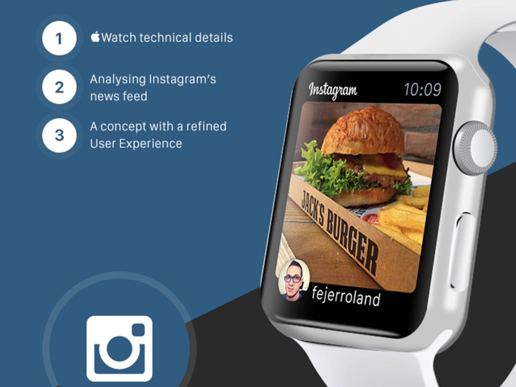 Nach einem Update könnte Instagram für die Apple Watch zum Beispiel so aussehen.