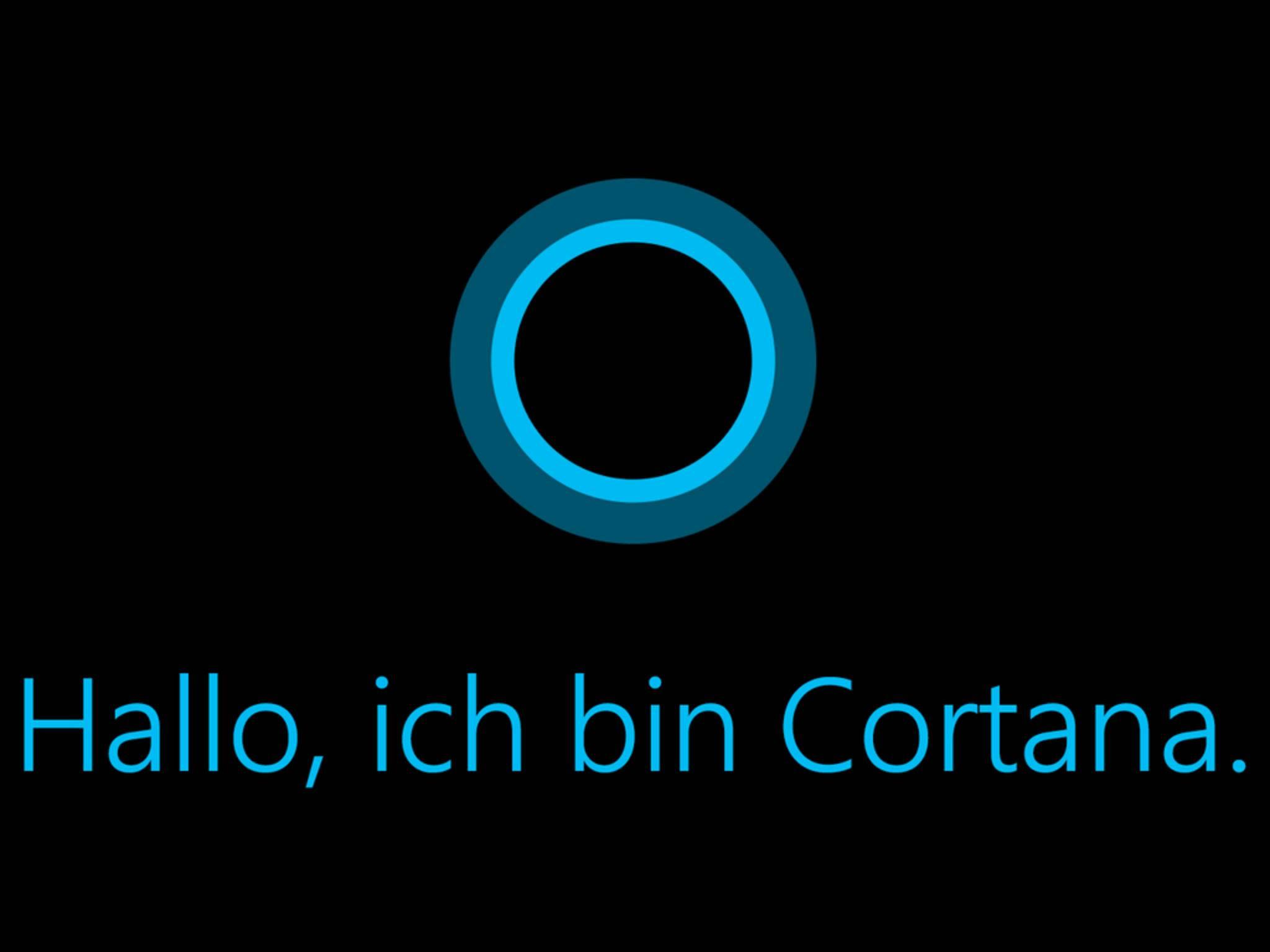 Cortana drängt sich in den Vordergrund.