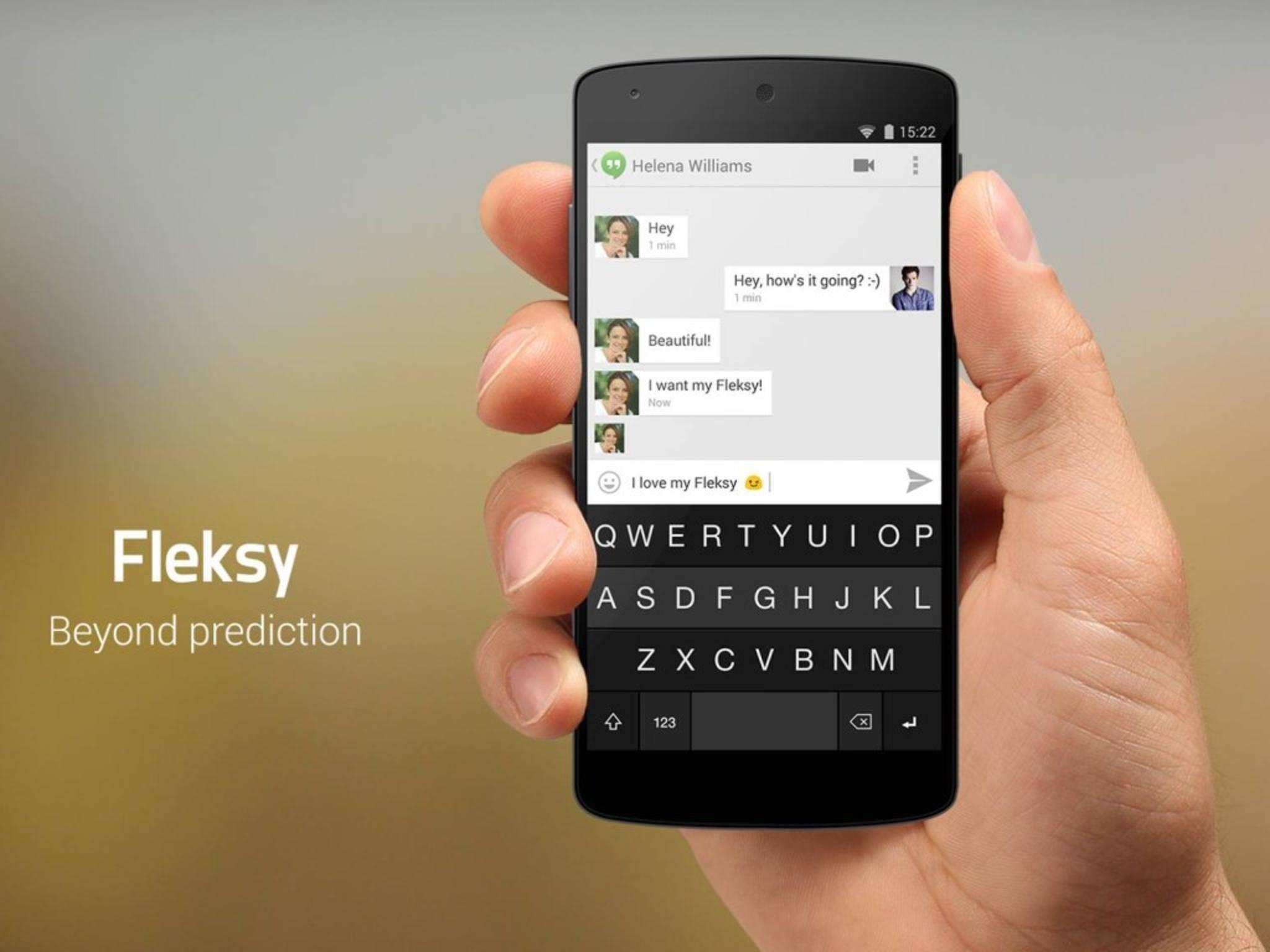 Fleksy bekommt mit einem Update viele neue Funktionen.