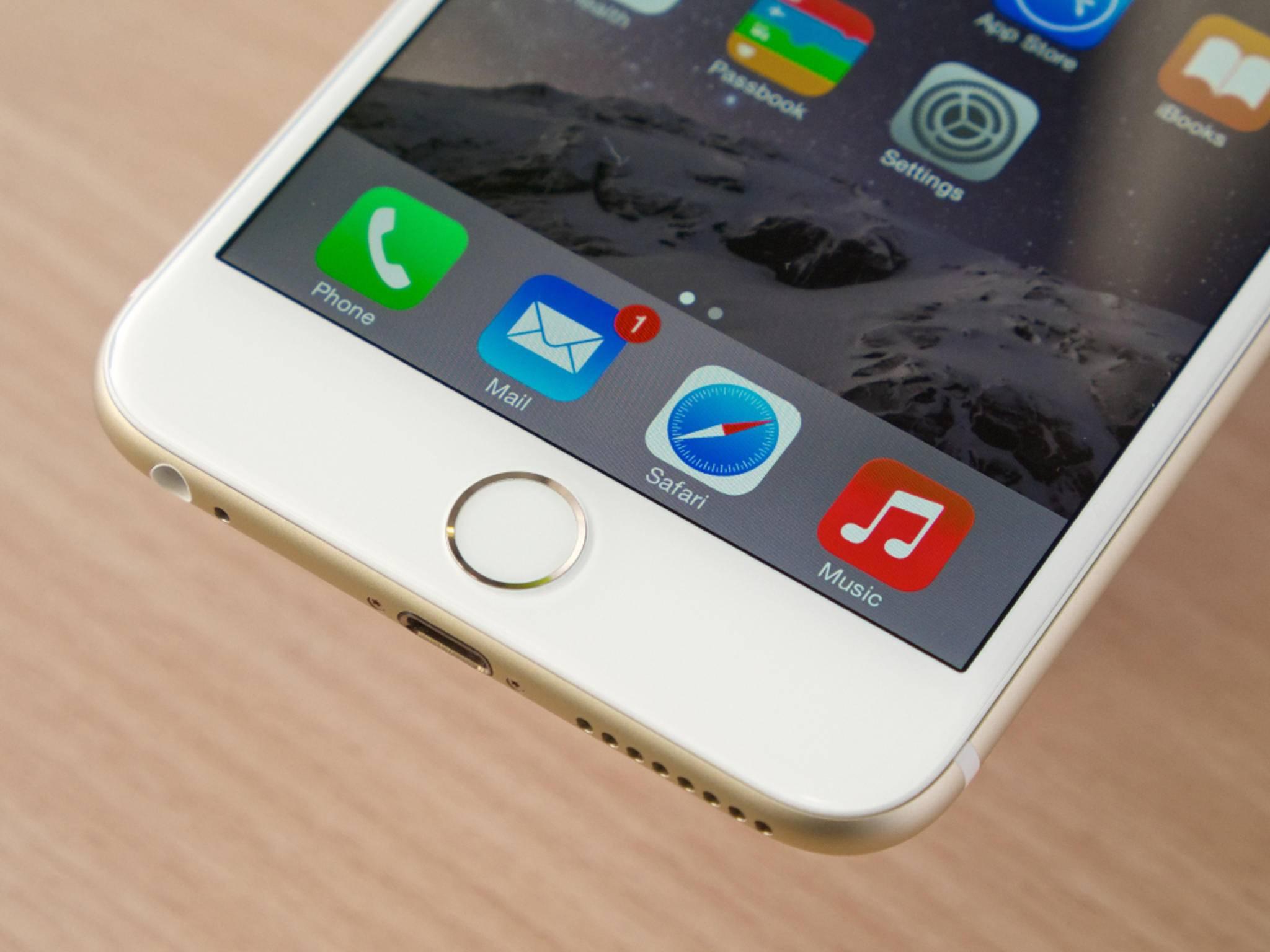 Beim iPhone 6 Plus reagiert Touch ID nur auf das Auflegen des Fingers.