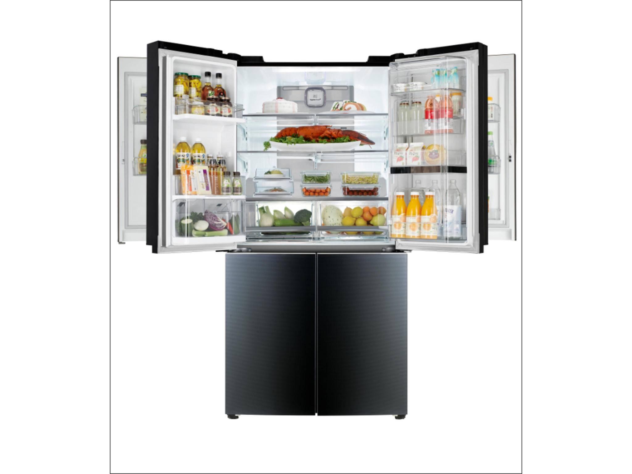 Dieser neue Kühlschrank von LG hat ein Tür-In-Tür-System.
