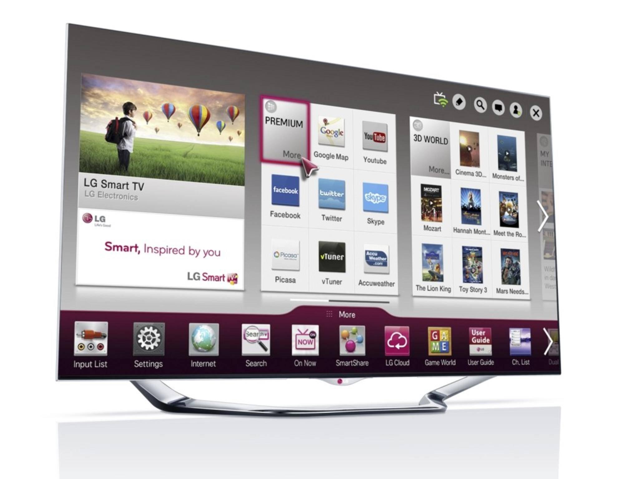 LG nennt seine eigene Plattform schlicht und einfach LG Smart TV.