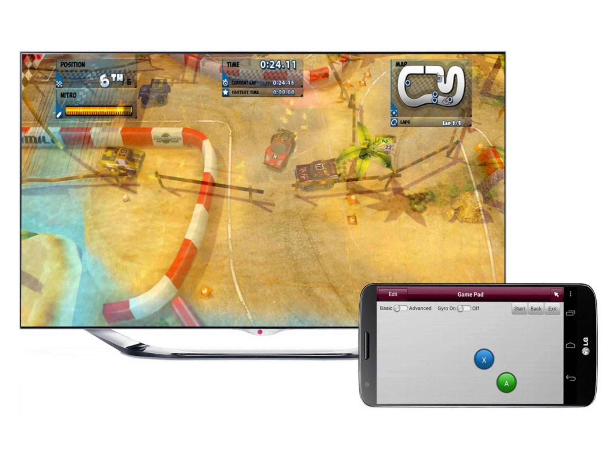 LG bietet zahlreiche Spiele für seine Smart TV-Plattform an.