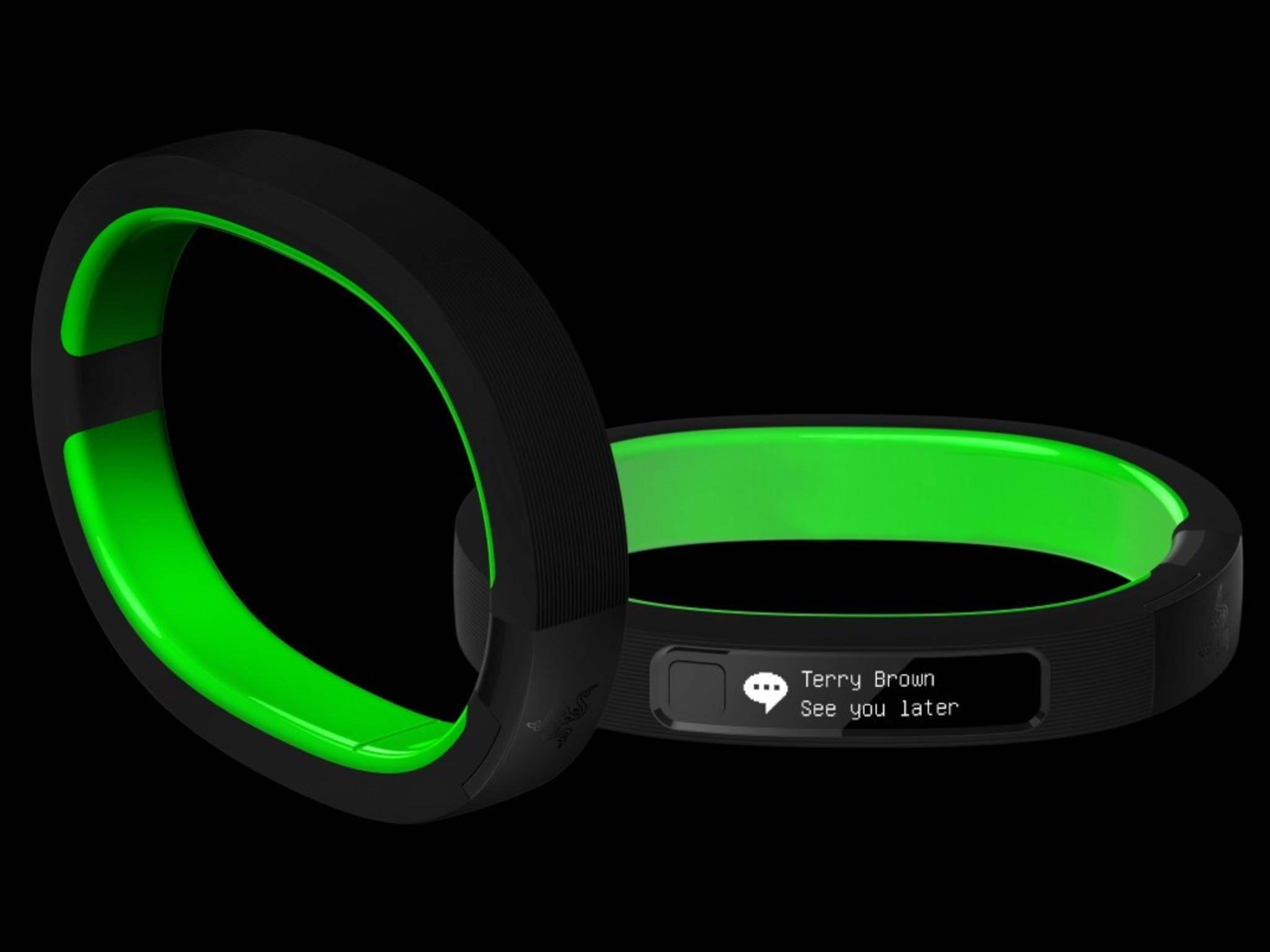 Das Smartband Razer Nabu ist mit einem LED-Display ausgestattet.