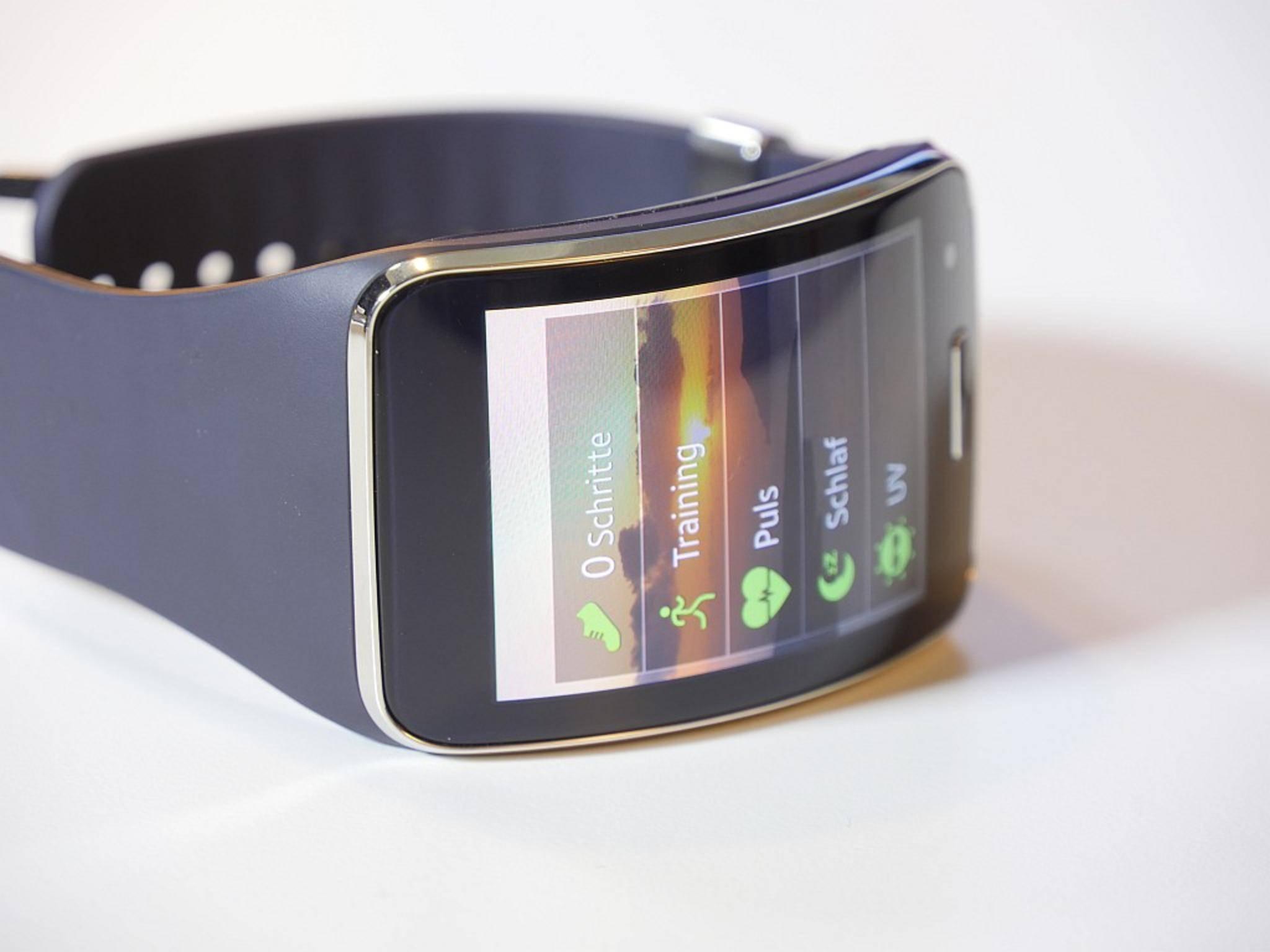 Wer will, kann die Gear S als Fitness-Tracker nutzen.