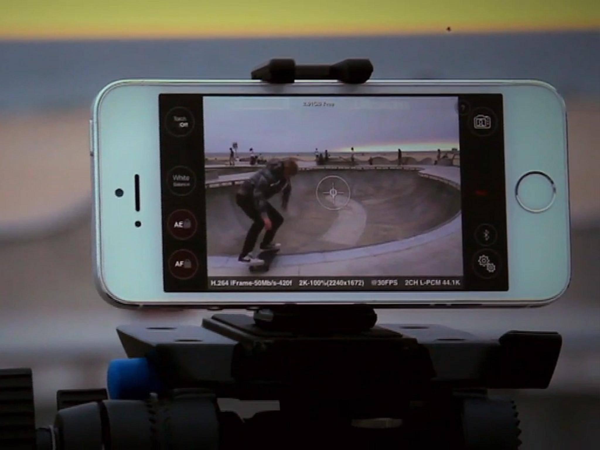 Die Ultrakam-App kann 4K-Videos am iPhone 6 und 6 Plus drehen.