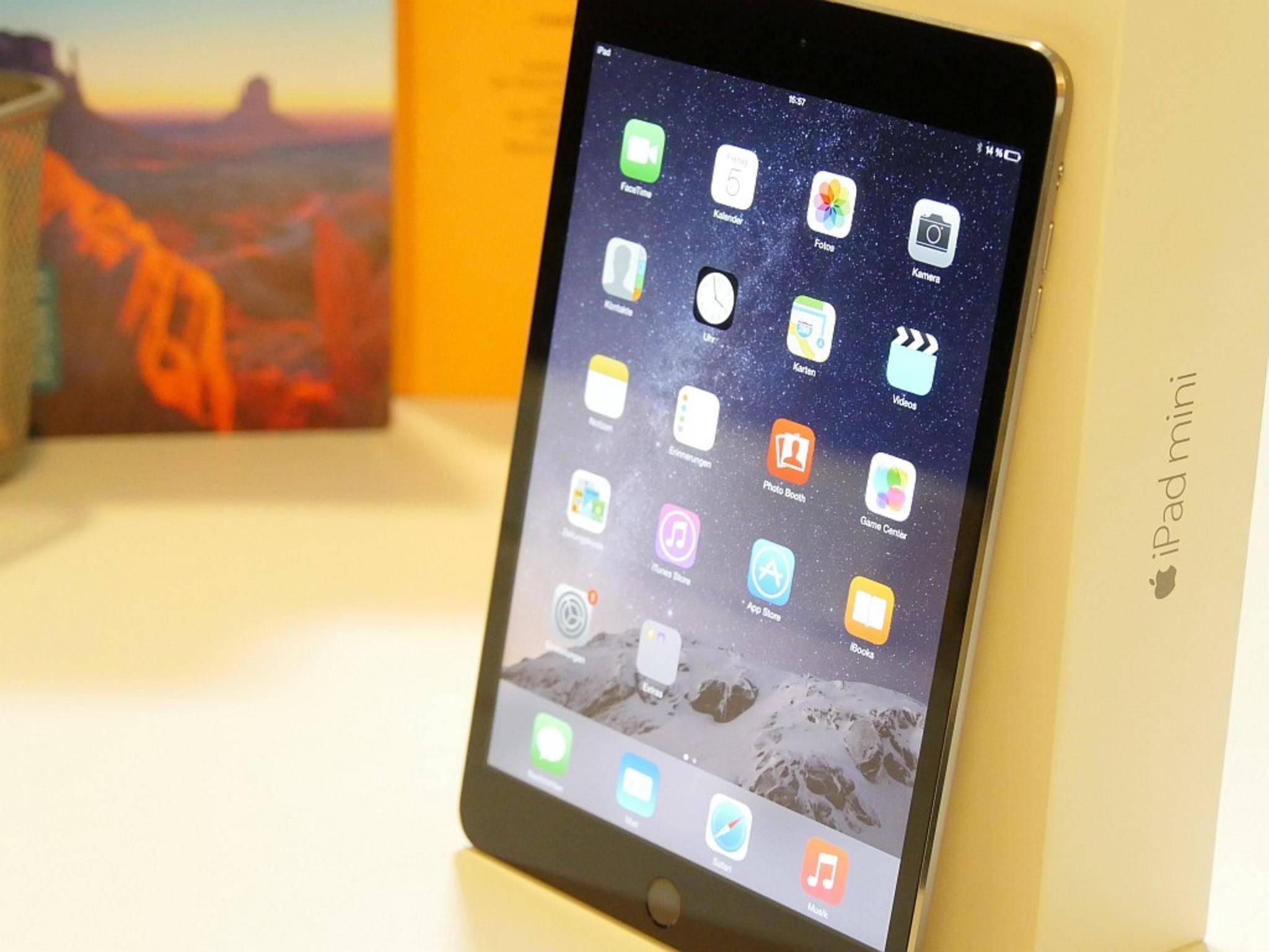 Das iPad mini 3 unterscheidet sich kaum vom iPad mini 2.