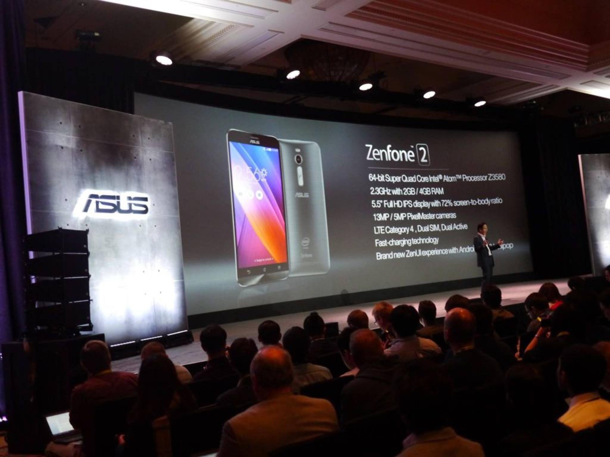 Neuankündigung von Asus: Das ZenFone 2 ist das erste Smartphone mit 4 GB Arbeitsspeicher.