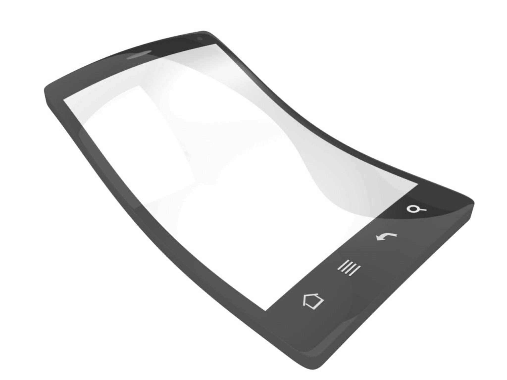 So könnte es aussehen: ein biegsames iPhone in einer Konzeptzeichnung.