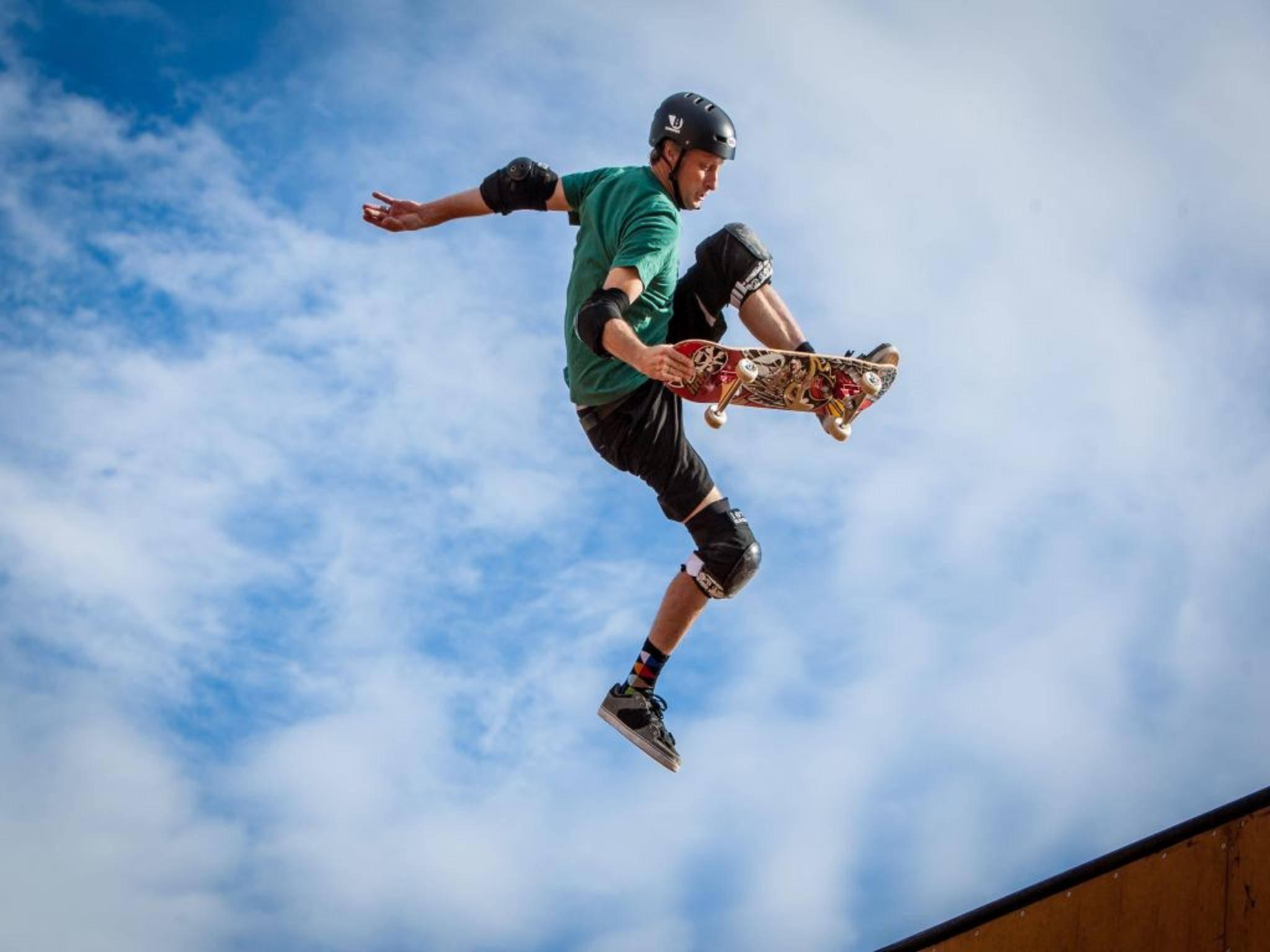 Will wieder hoch hinaus: Skatebord-Legende Tony Hawk shreddet 2015 auf der PlayStation 4.