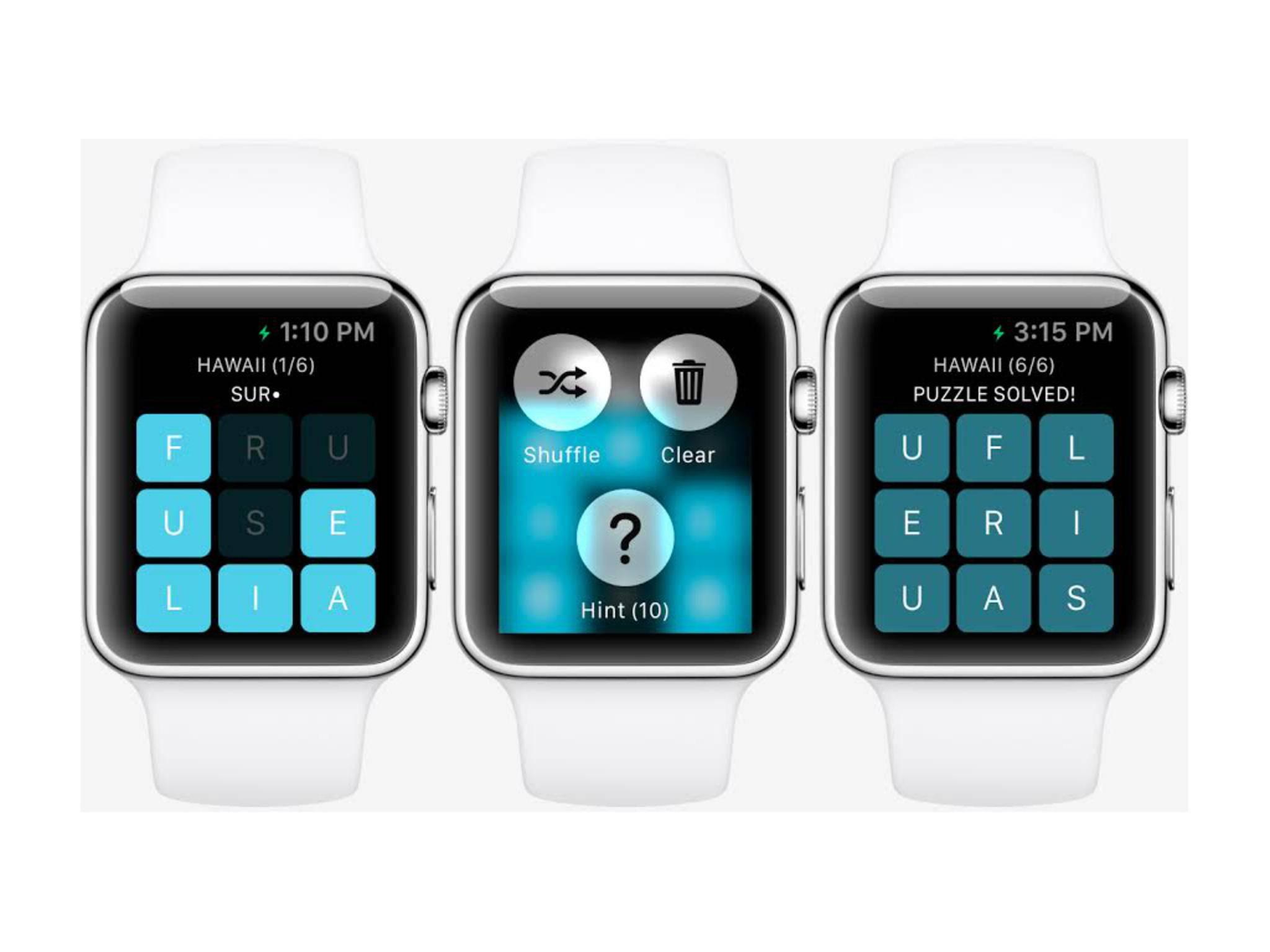 So wird das Spiel Letterpad wohl auf der Apple Watch aussehen.