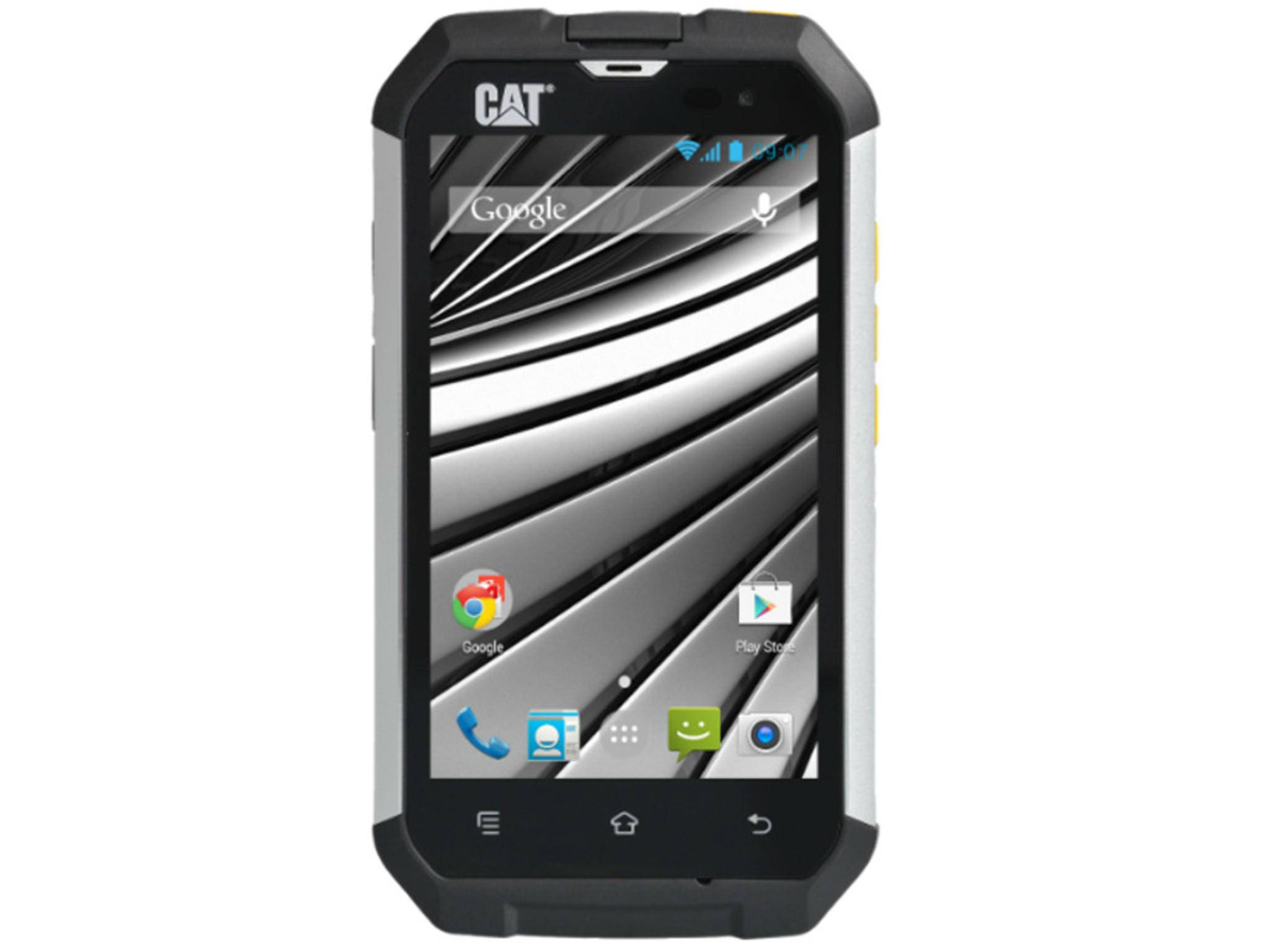 Das CAT B15Q kommt mit Gorilla Glass 2 und ist dank IP67 staub- und wasserdicht.