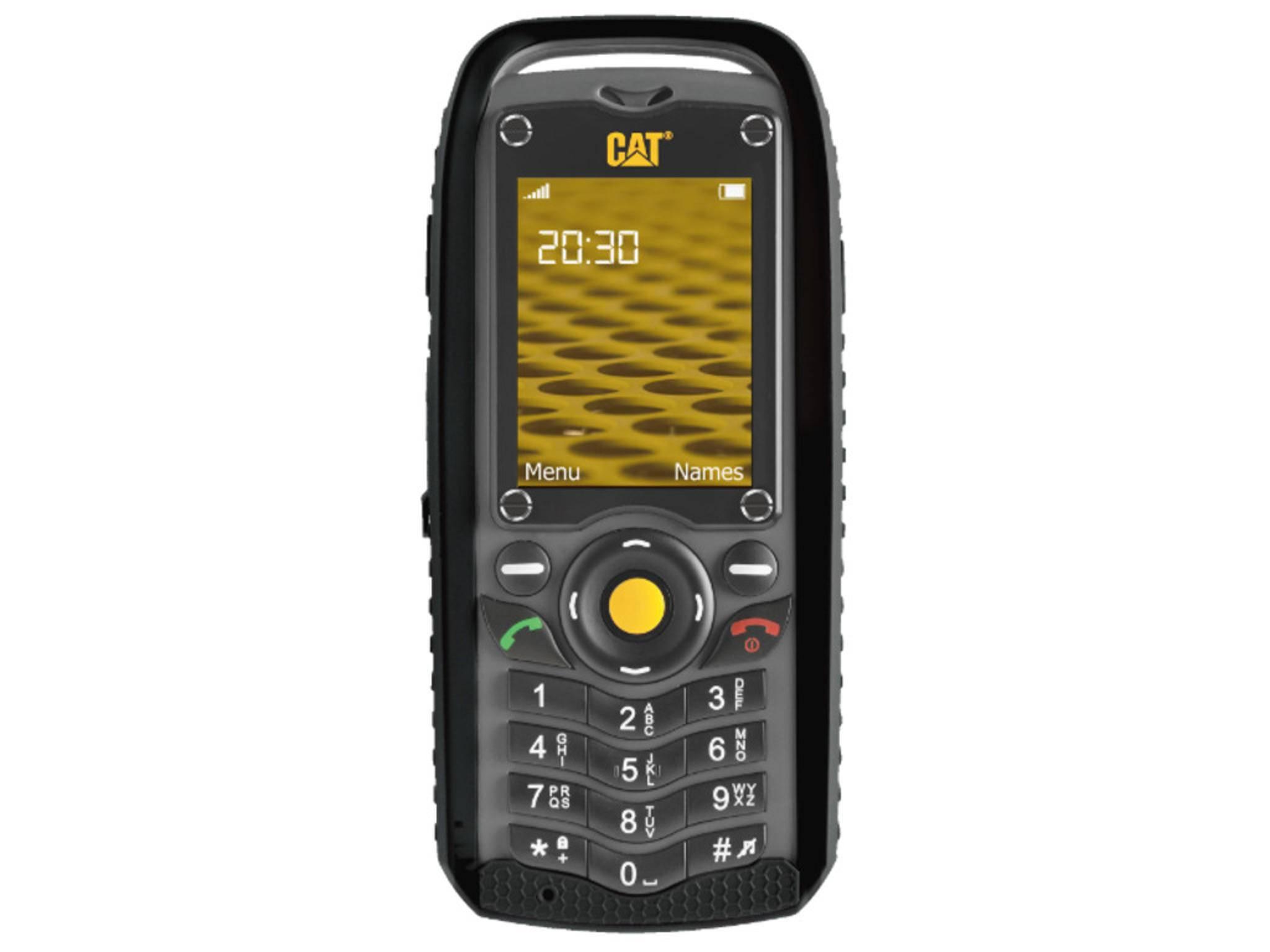 Das CAT B25 ist eher klassisches Handy als Smartphone, ist aber IP67-zertifiziert.