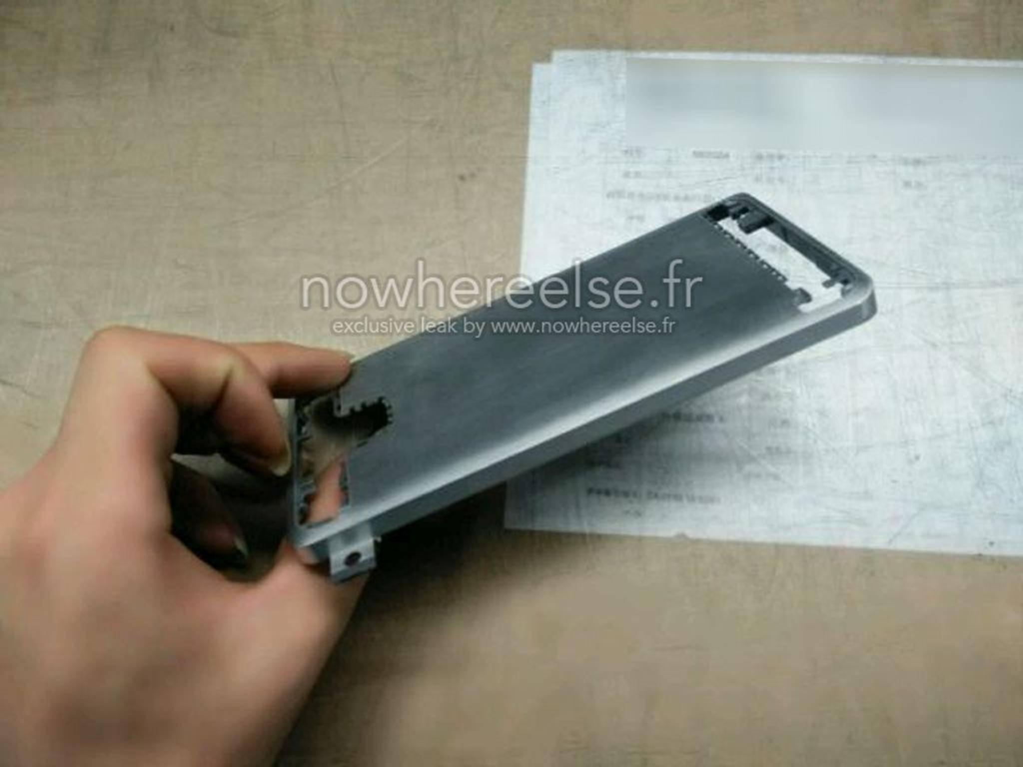 Die angebliche Metallrückseite entpuppte sich als Bauteil des Galaxy A5.