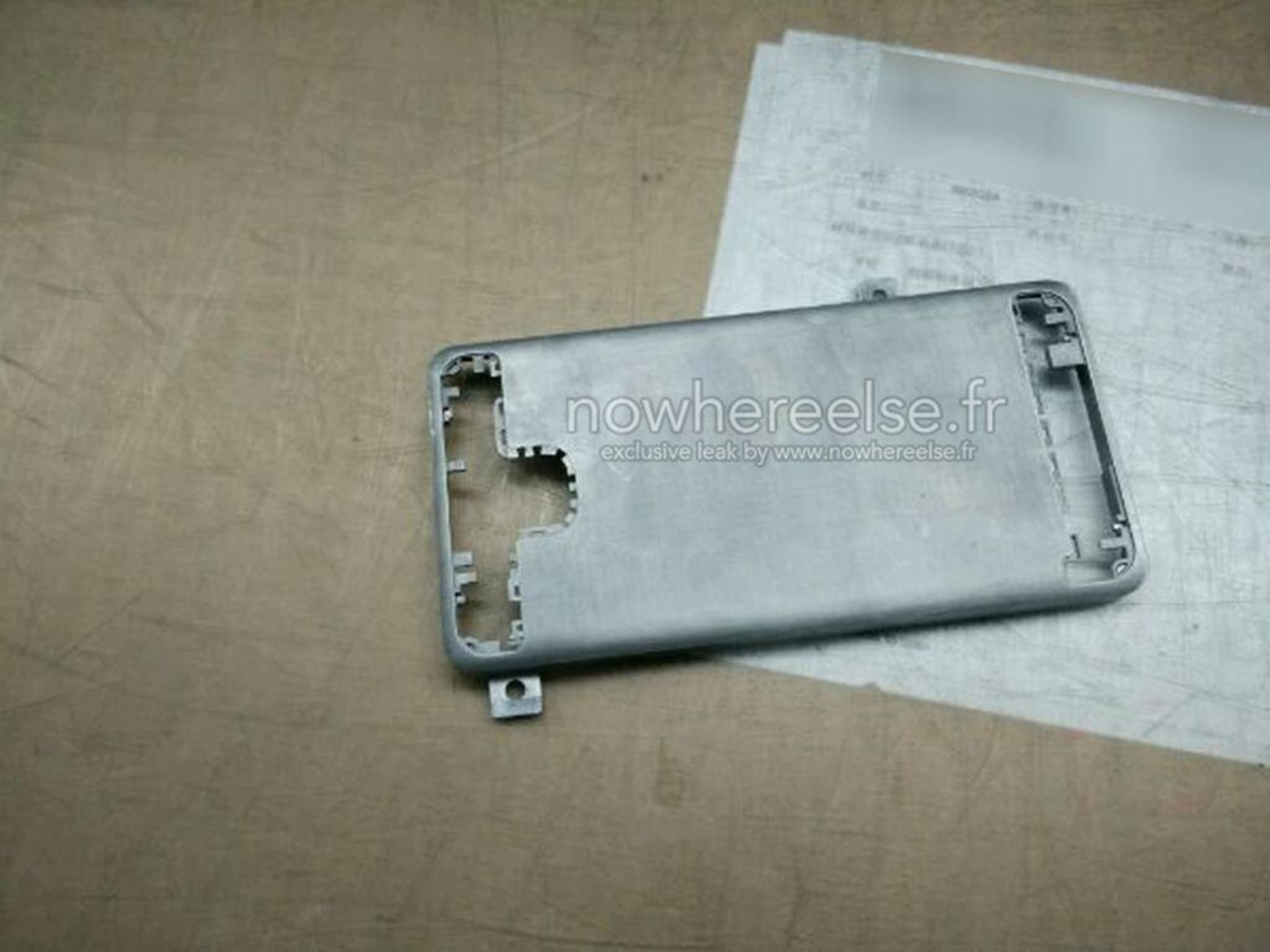 Noch schmucklos, aber robust: Das könnte die Hülle des Samsung Galaxy S6 sein.