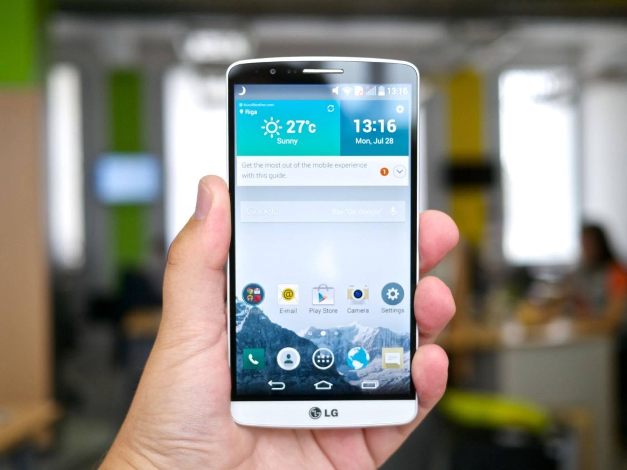 Das LG G3 besitzt ein 5,5 Zoll großes Display.