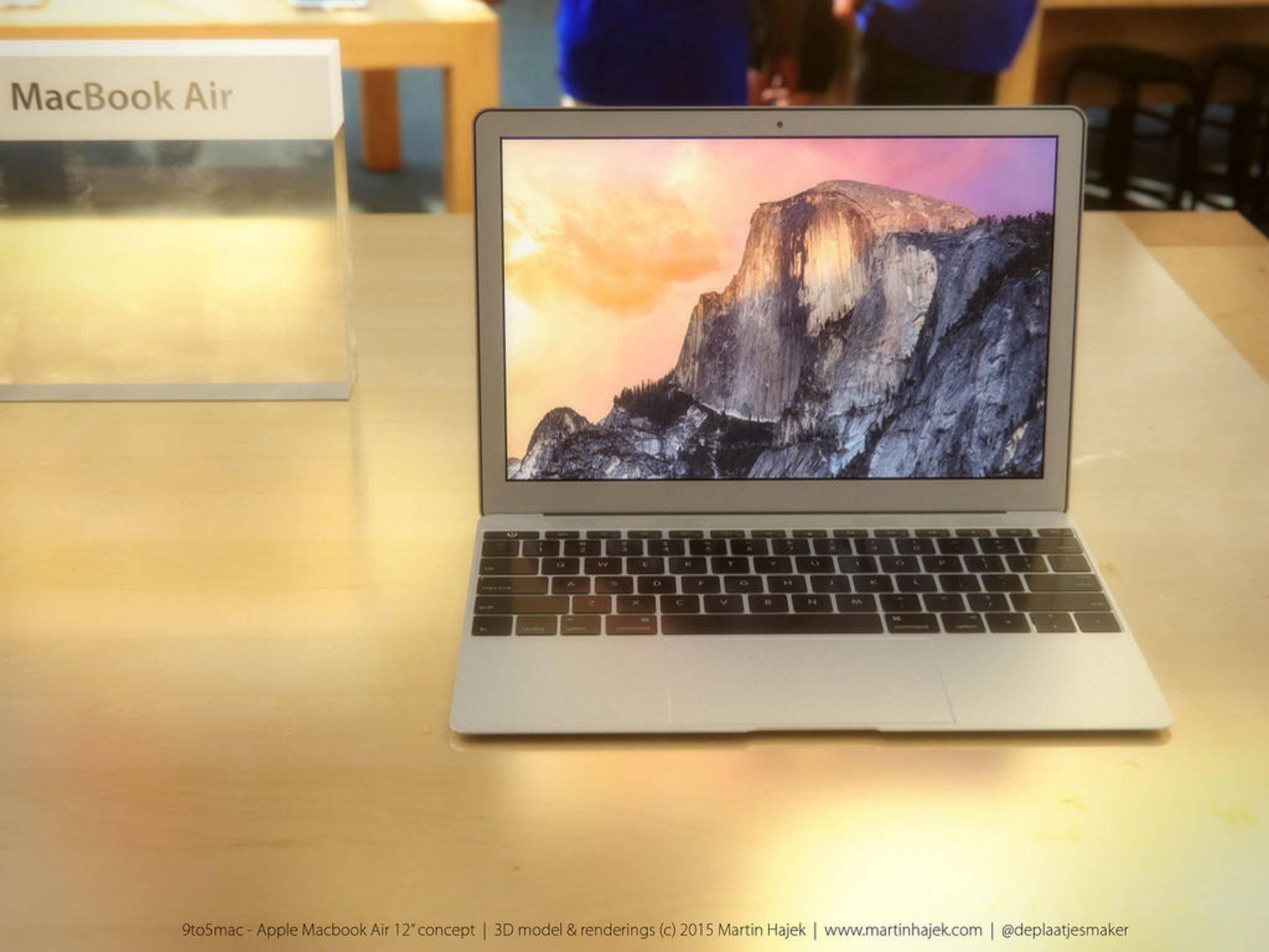 Apple könnte ein noch dünneres MacBook Air enthüllen.