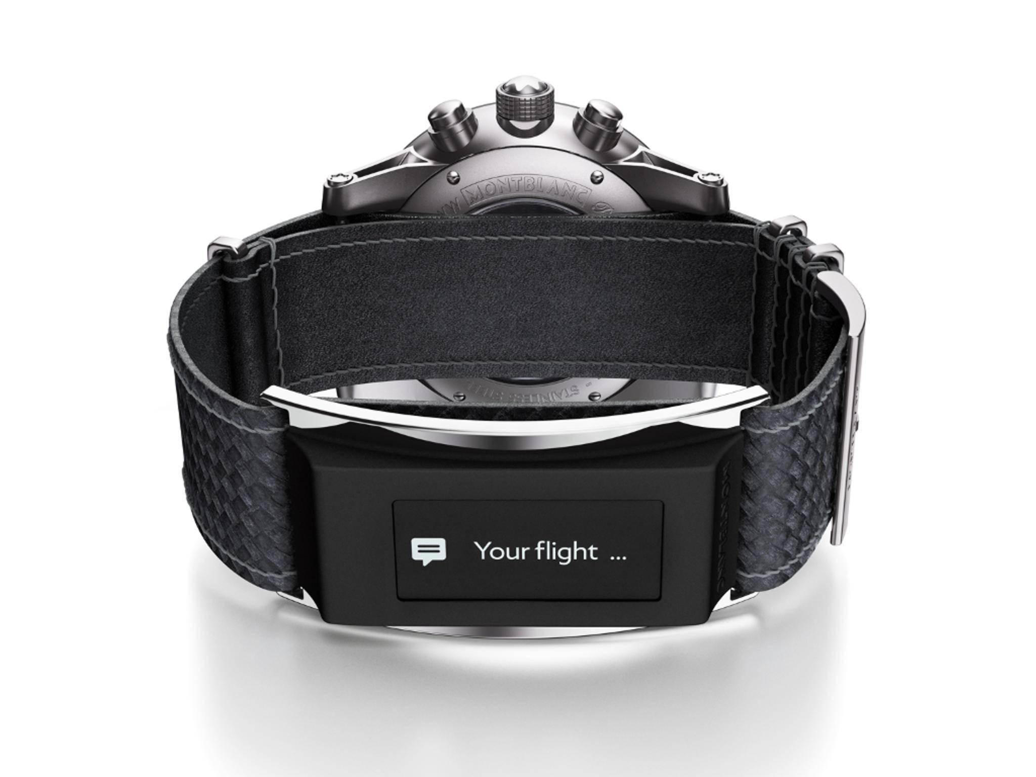 Das e-Strap-Armband kann auch eine Vorschau auf Nachrichten anzeigen.