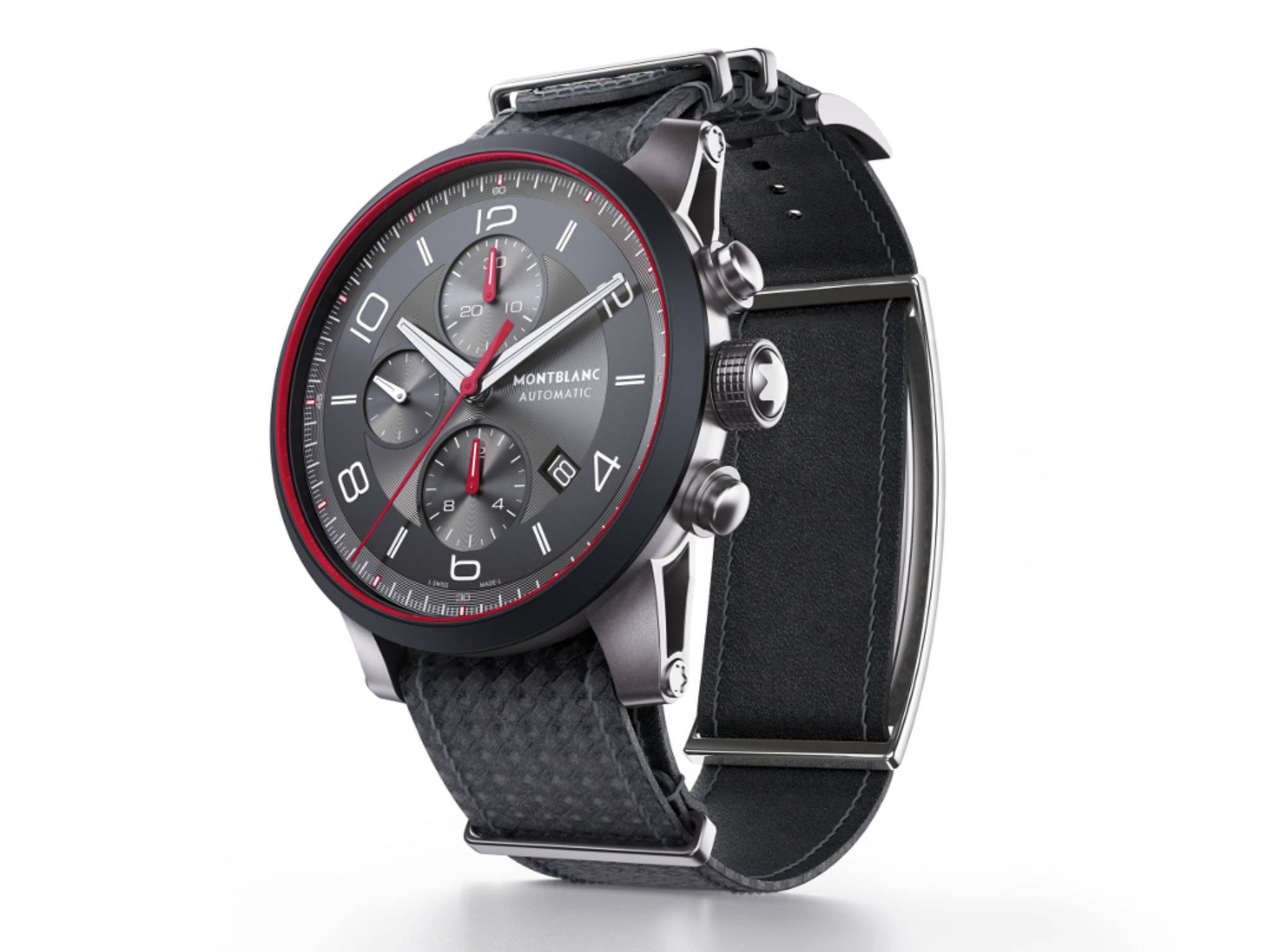 Die Timewalker von Montblanc mit e-Strap-Armband.