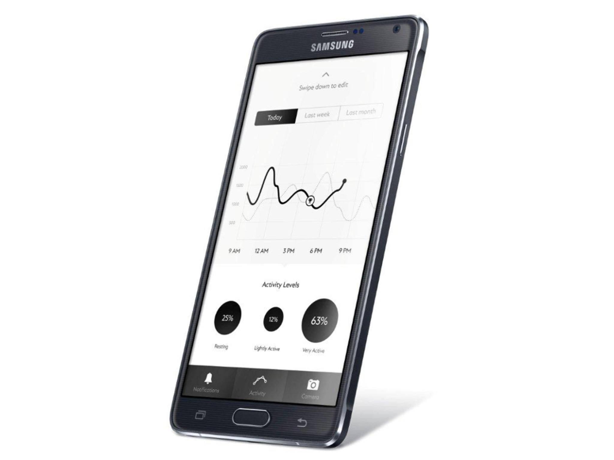 Mit einer Smartphone-App können Aktivitäten überwacht werden.