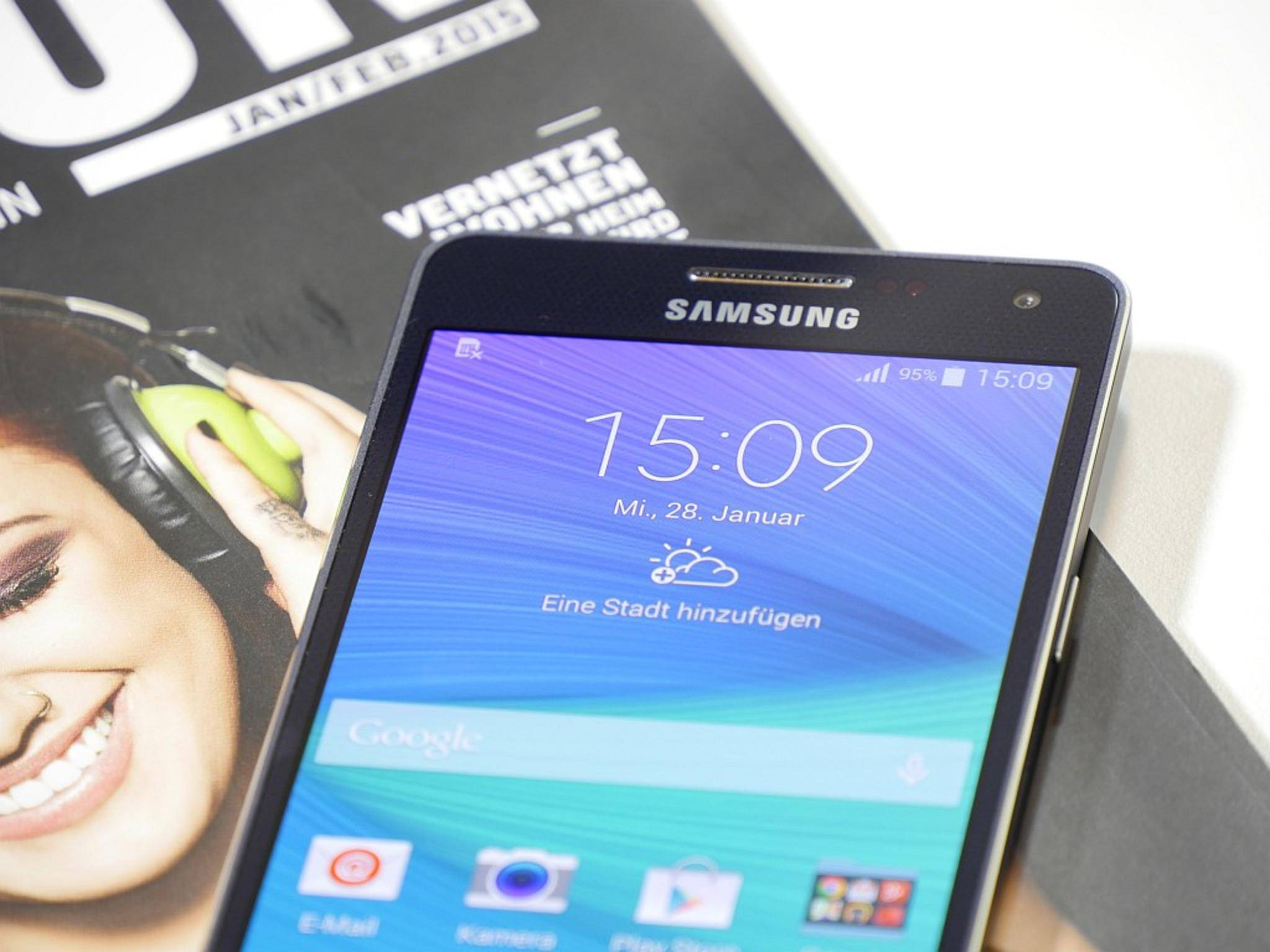 galaxy a5 im test samsungs not so heavy metal. Black Bedroom Furniture Sets. Home Design Ideas