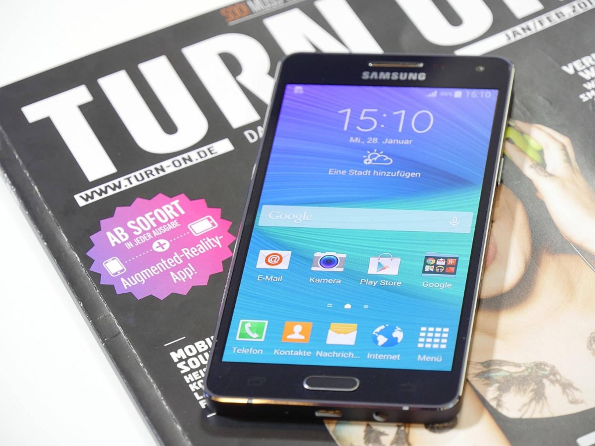 Das Display ist Samsung-typisch brillant, könnte aber etwas heller sein.